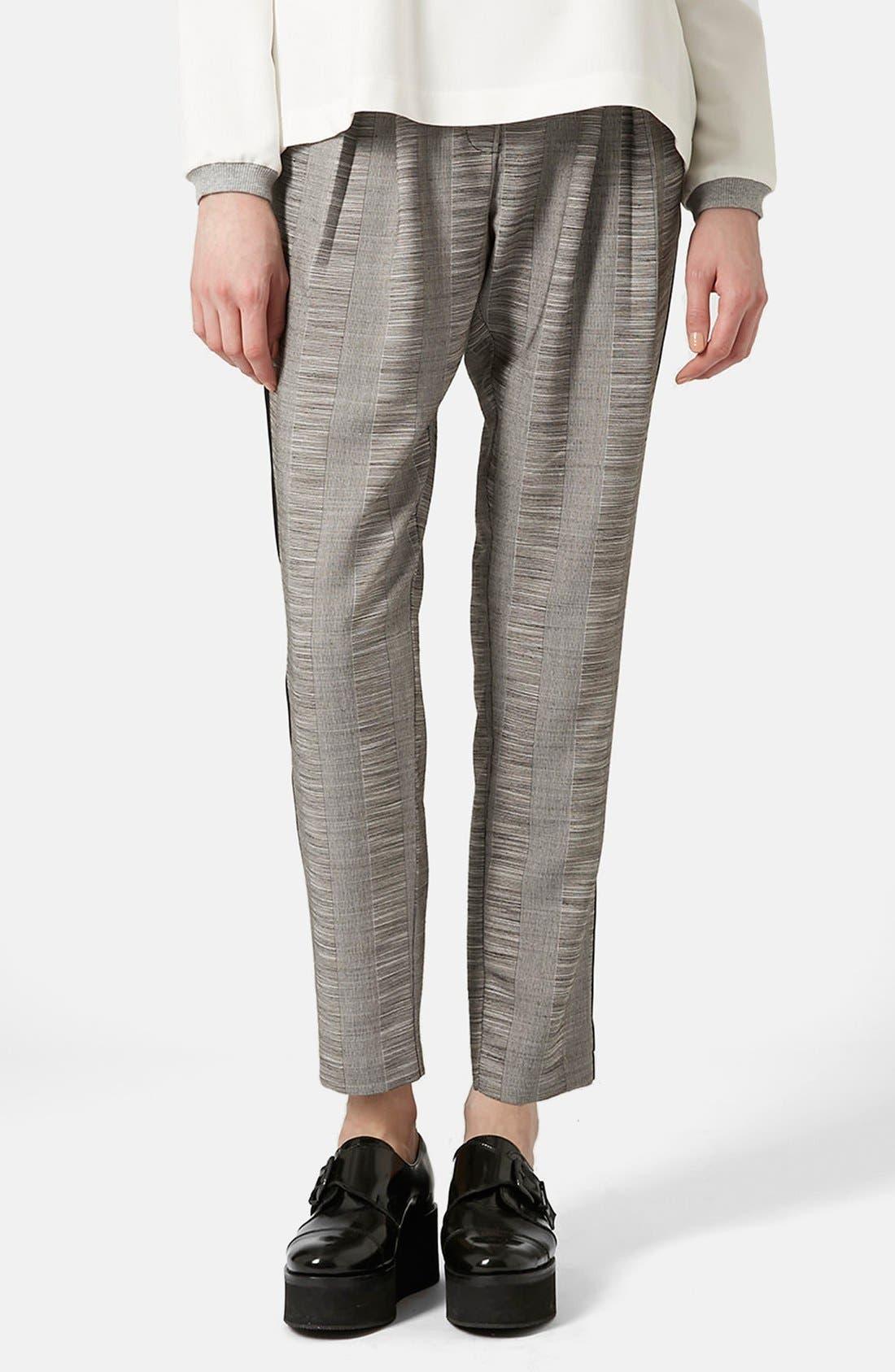 Main Image - Topshop Check Tailored Jogger Pants