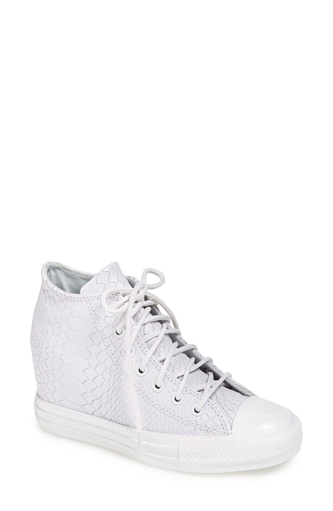 Main Image - Converse Chuck Taylor® All Star® 'Embossed Reptile' Wedge Sneaker (Women)
