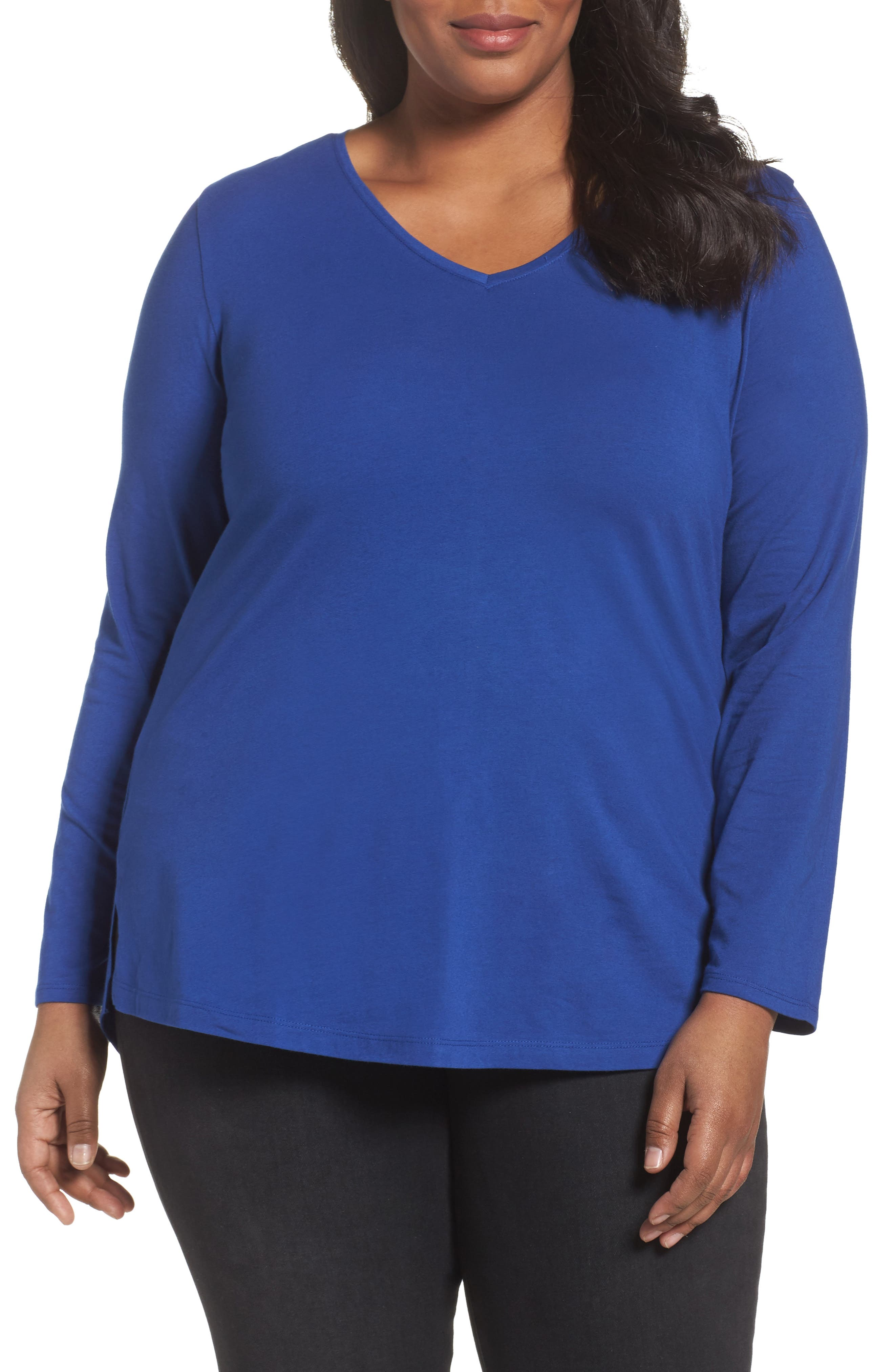 Sejour V-Neck Tee (Plus Size)