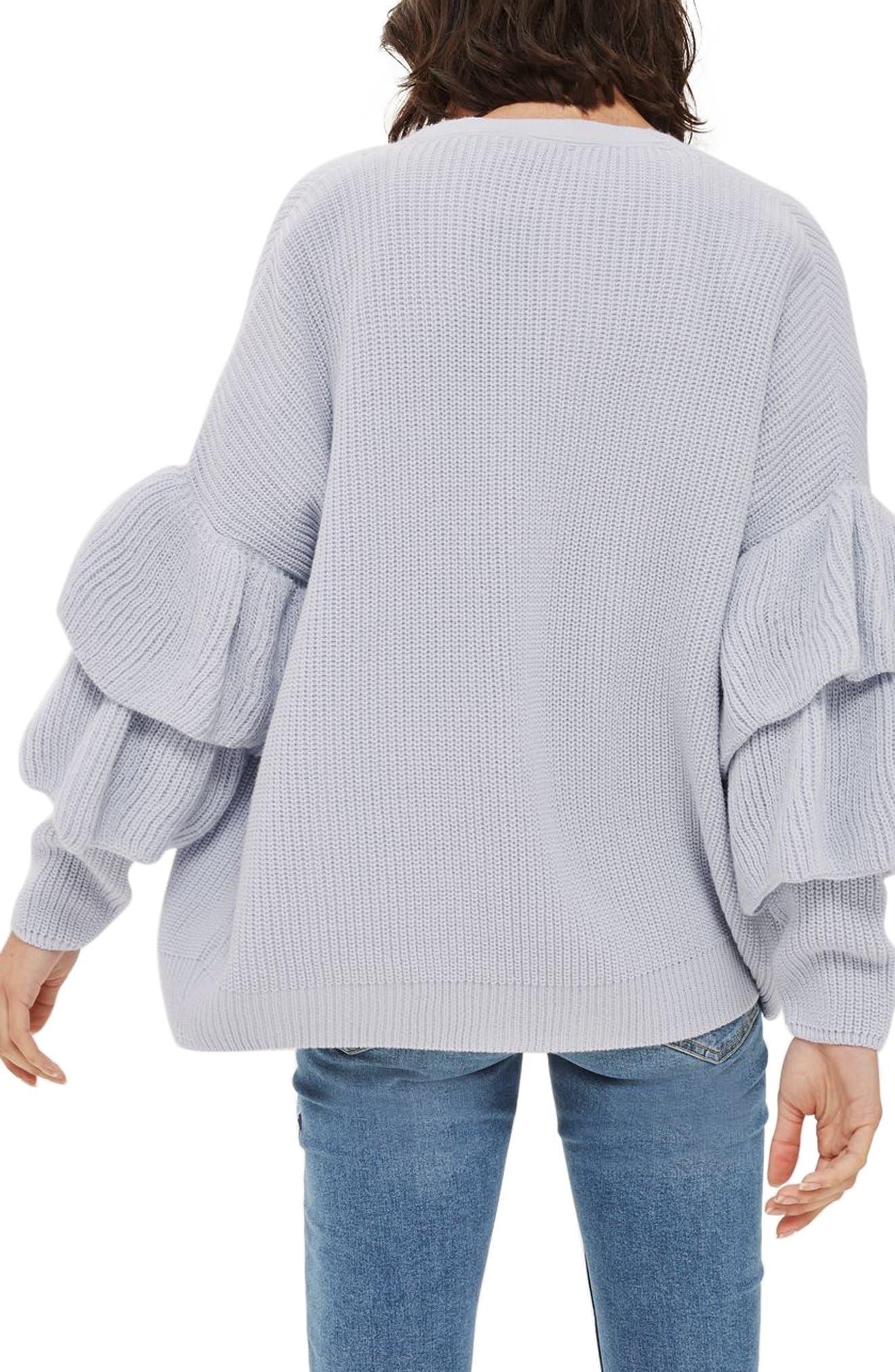 Alternate Image 3  - Topshop Layered Ruffle Sleeve Cardigan