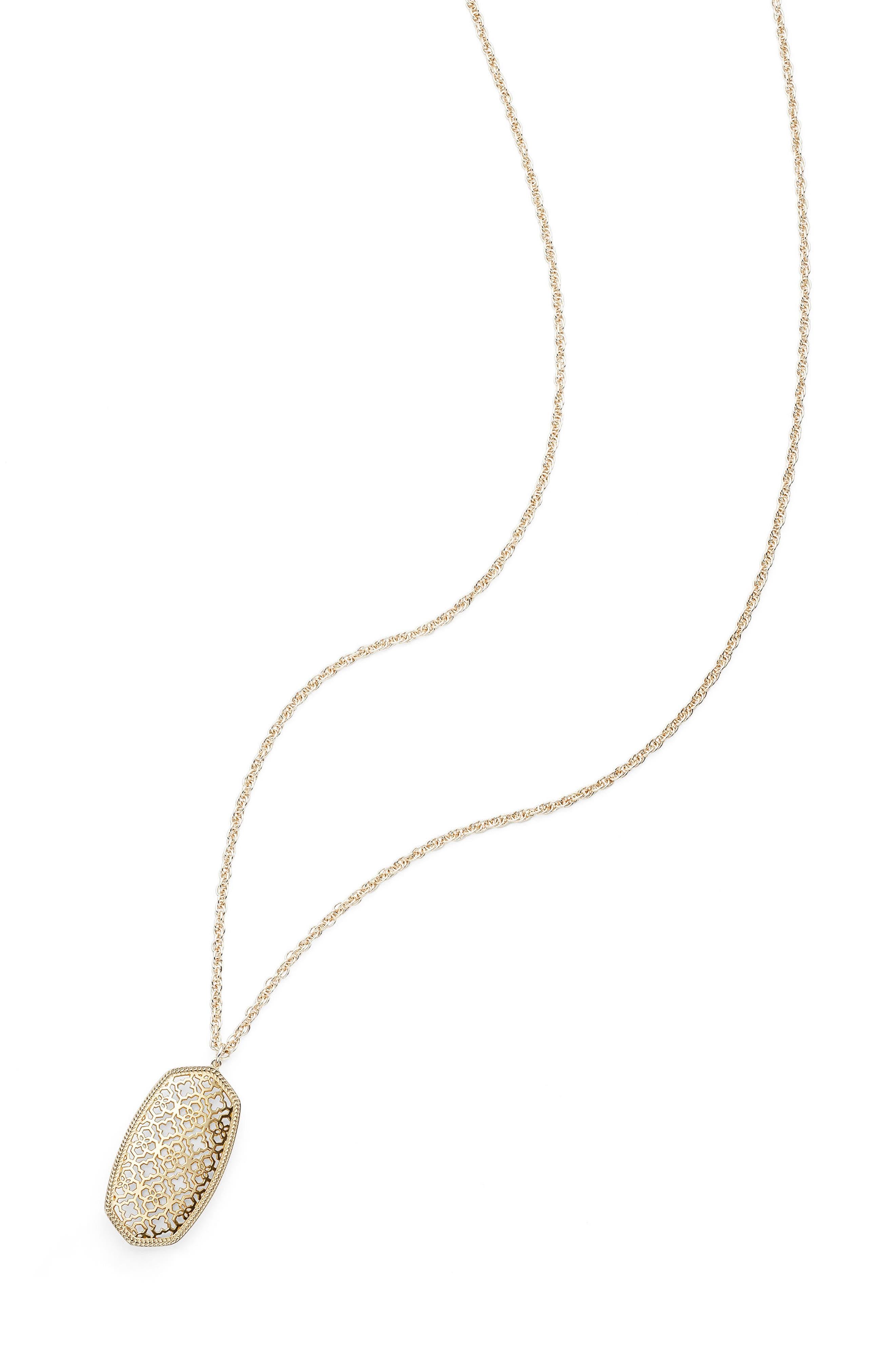 Alternate Image 3  - Kendra Scott Rae Long Filigree Pendant Necklace
