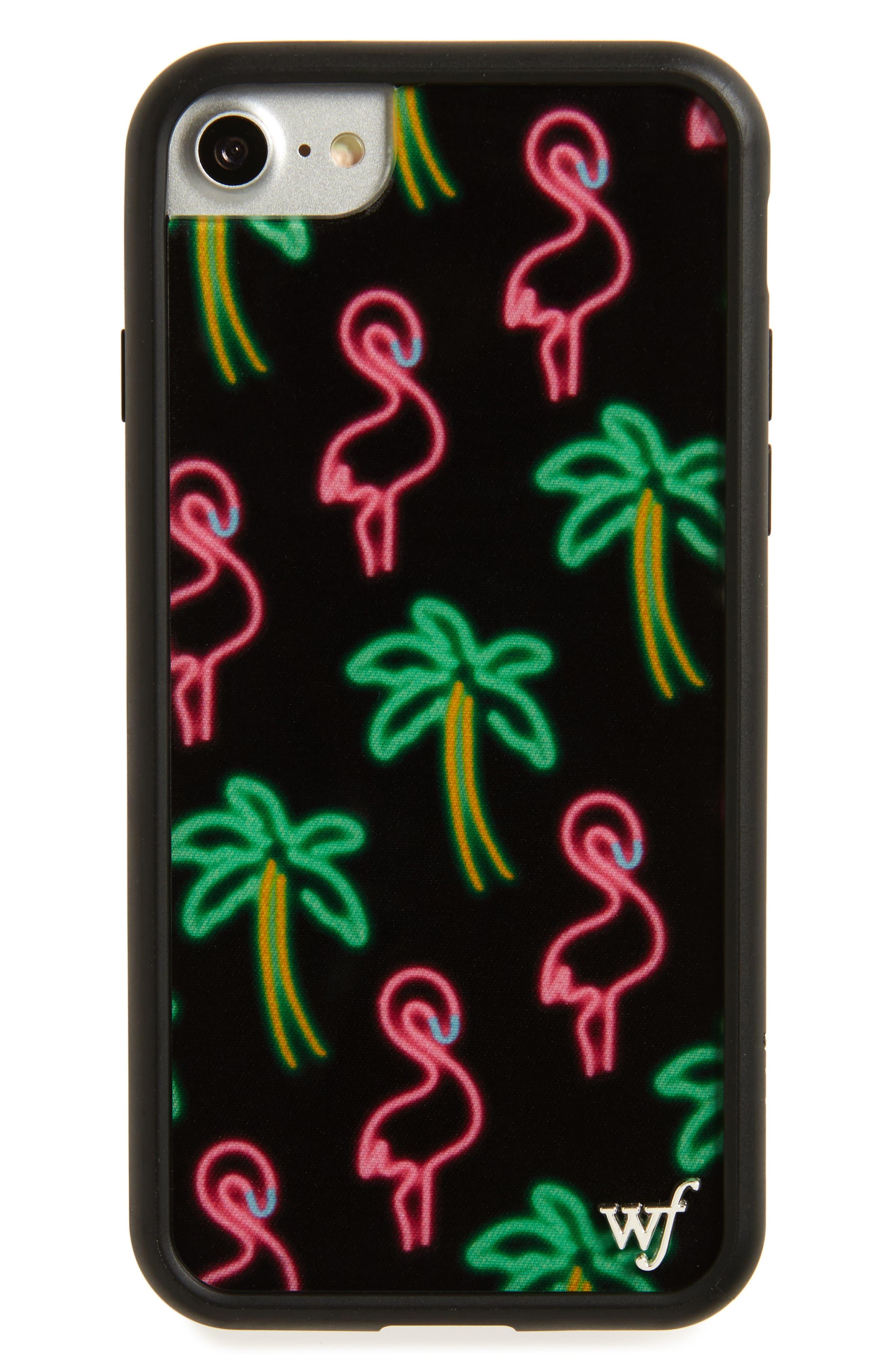 Wildflower Neon Flamingos & Palms iPhone 7 Case