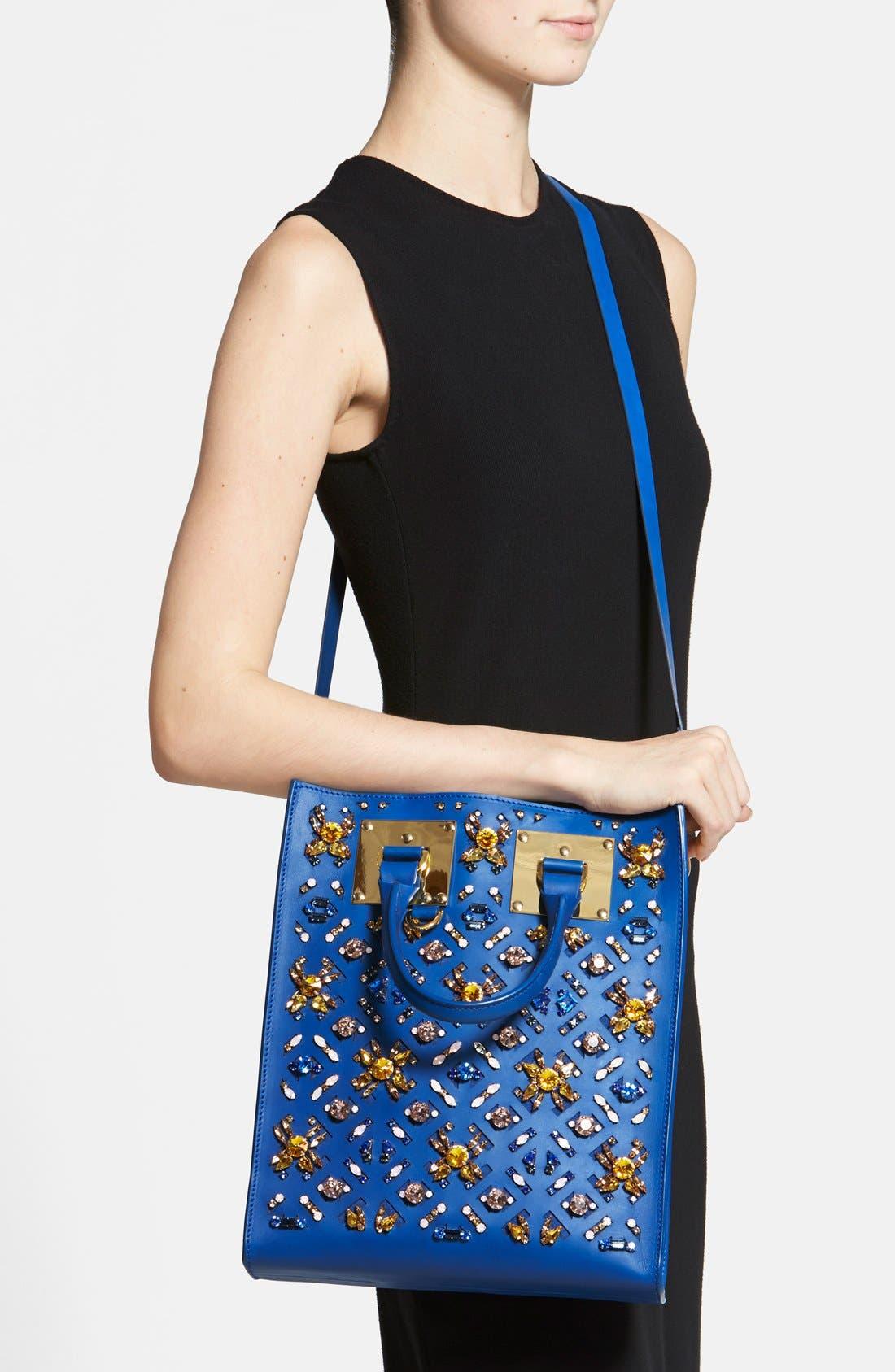 Alternate Image 2  - Sophie Hulme Crystal Embellished 'Mini' Leather Tote