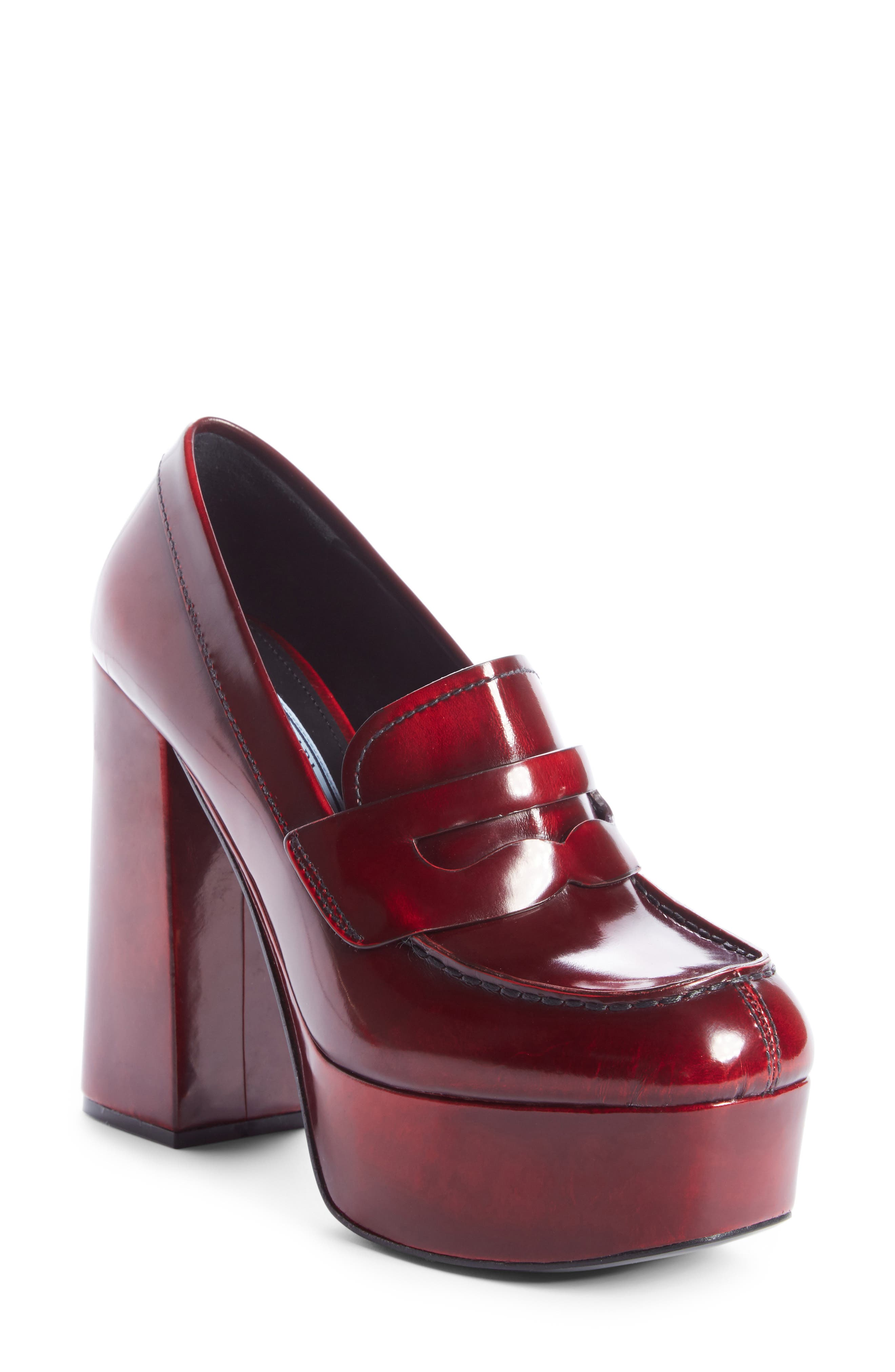 Prada Platform Loafer Pump (Women)