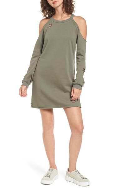 Main Image - Socialite Cold-Shoulder Sweatshirt Dress