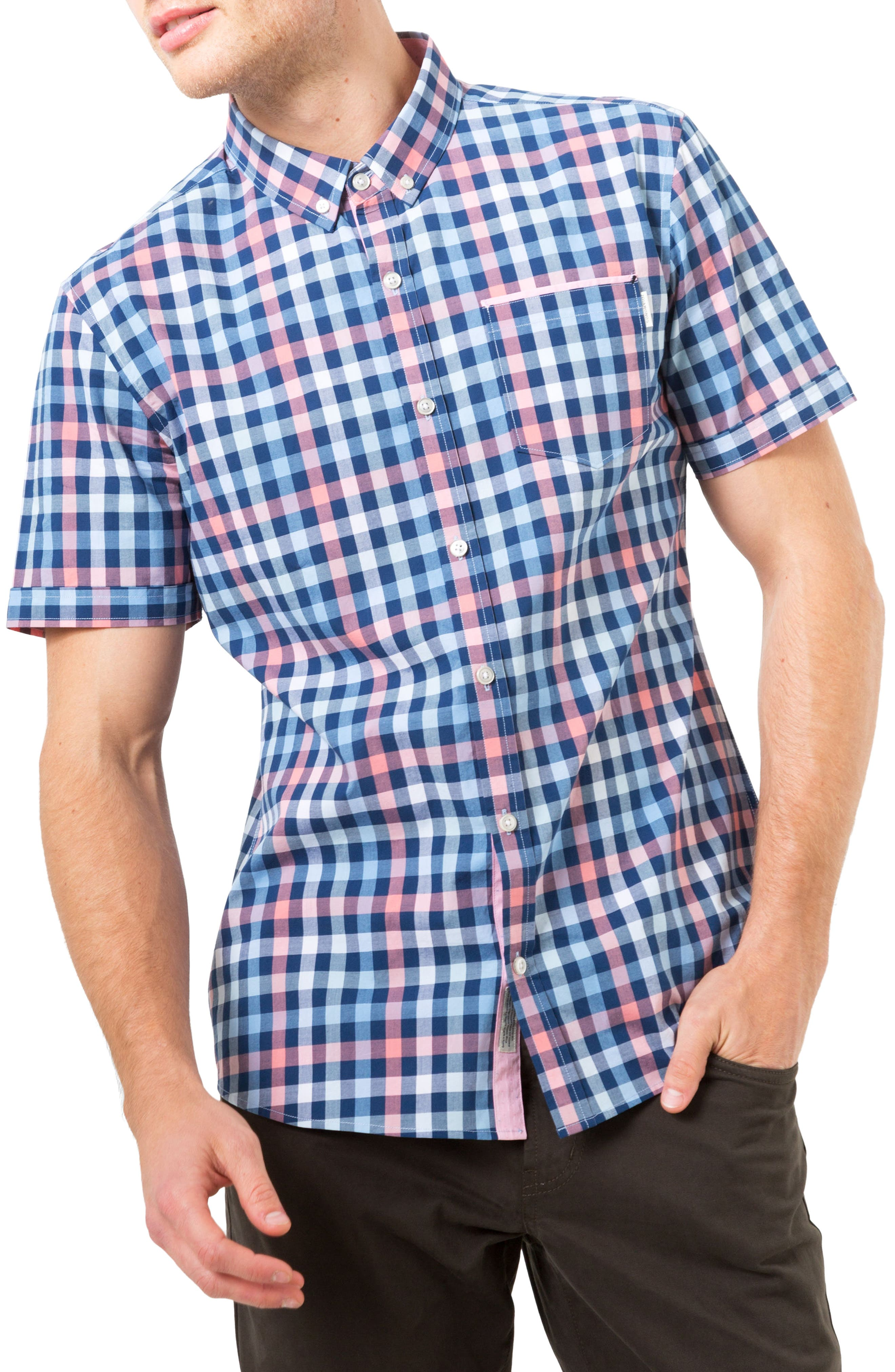 7 Diamonds Unforgettable Check Woven Shirt
