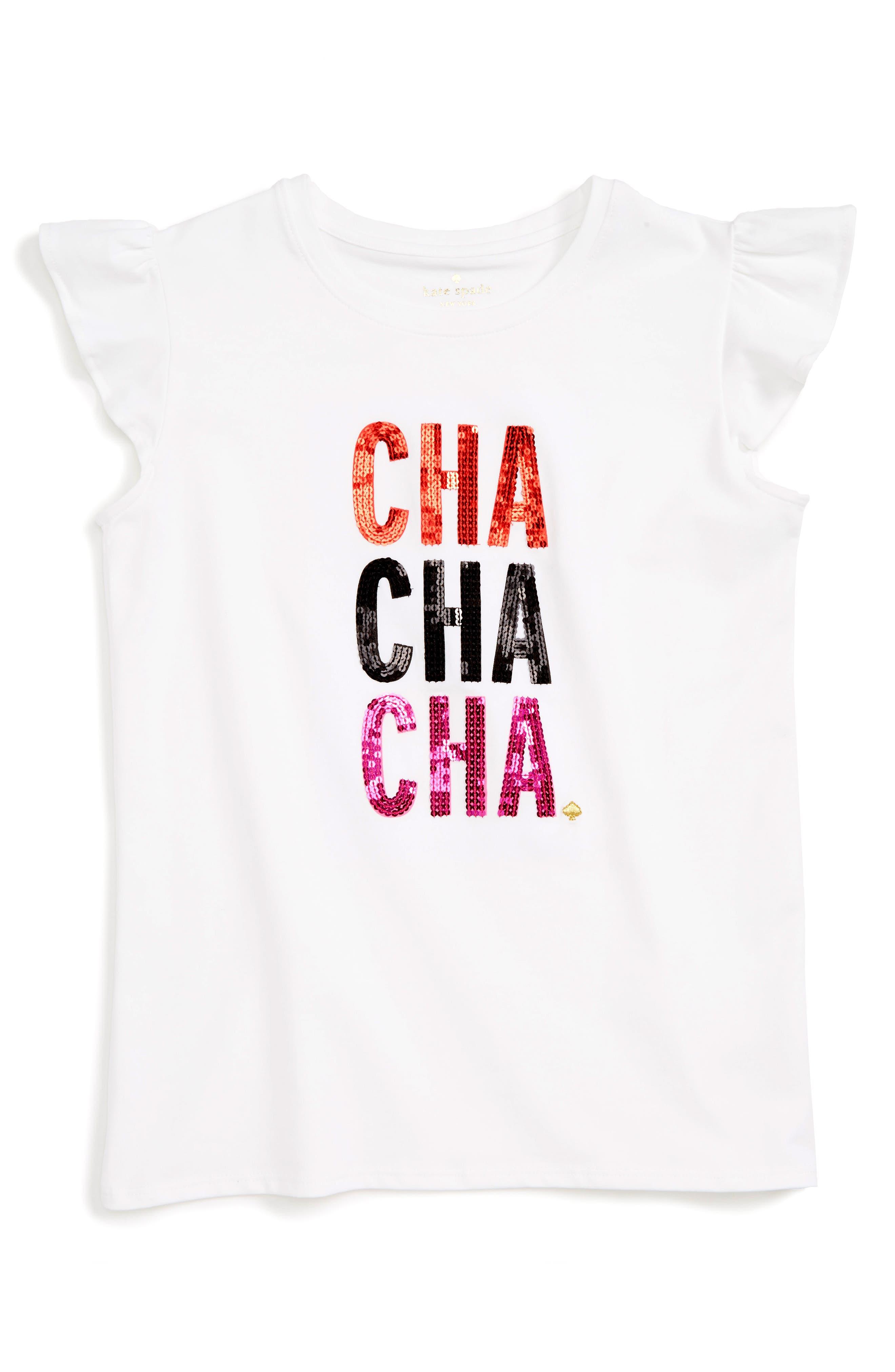 kate spade new york cha cha cha embellished tee (Big Girls)