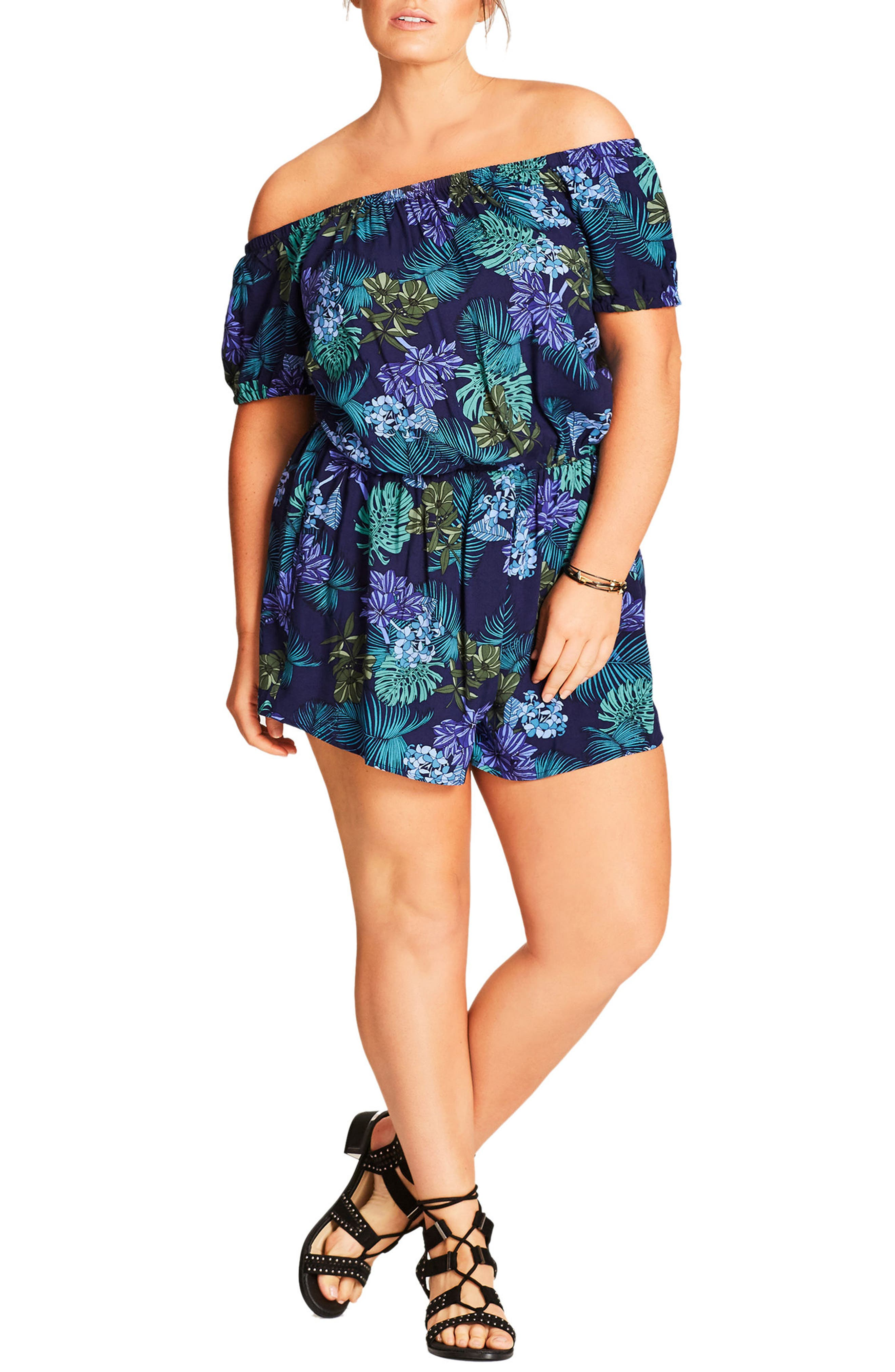 City Chic Easy Sunday Romper (Plus Size)