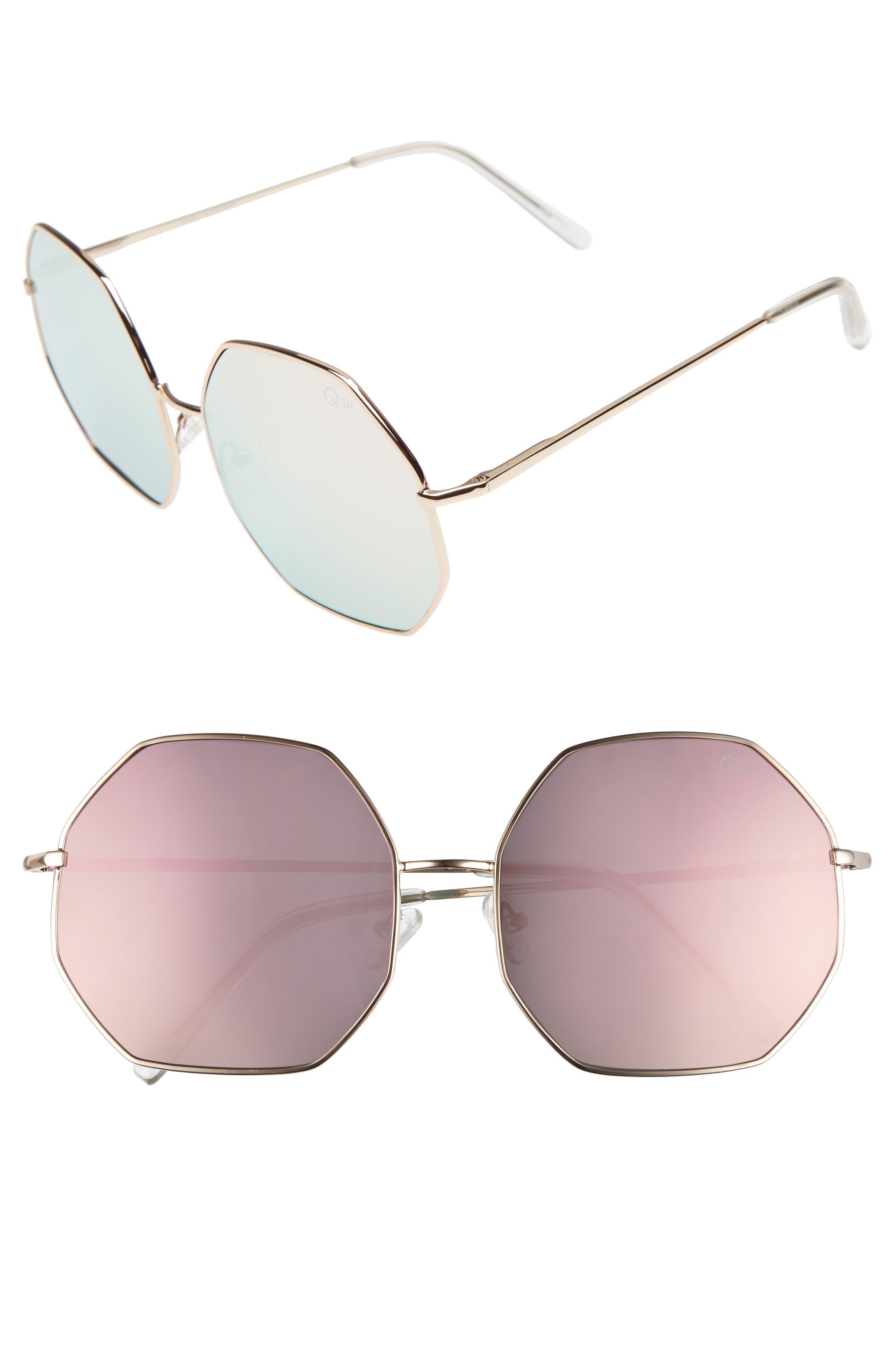Quay Australia 'Kiss & Tell' 60mm Sunglasses