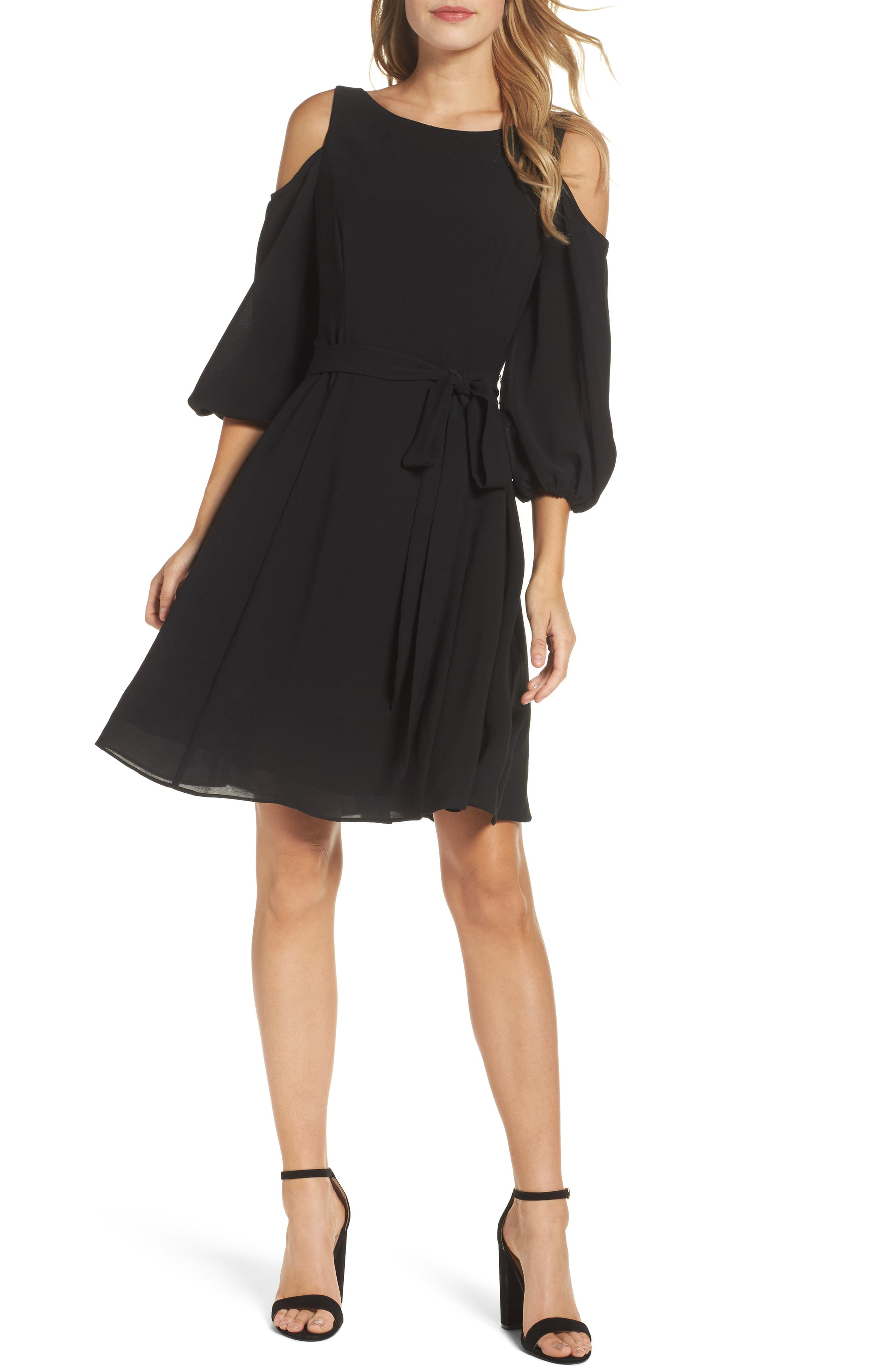 Adrianna Papell Cold Shoulder Dress (Regular & Petite)