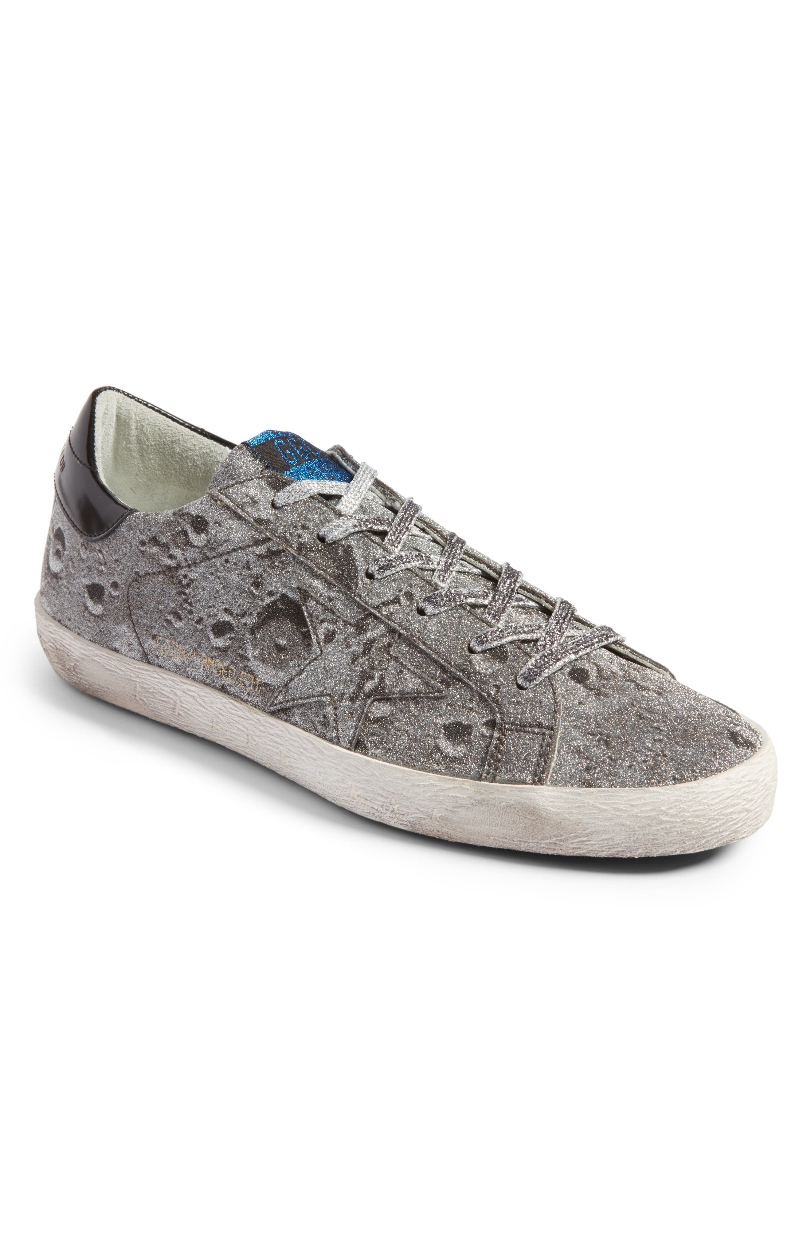 Golden Goose Superstar Low Top Glitter Sneaker (Women)