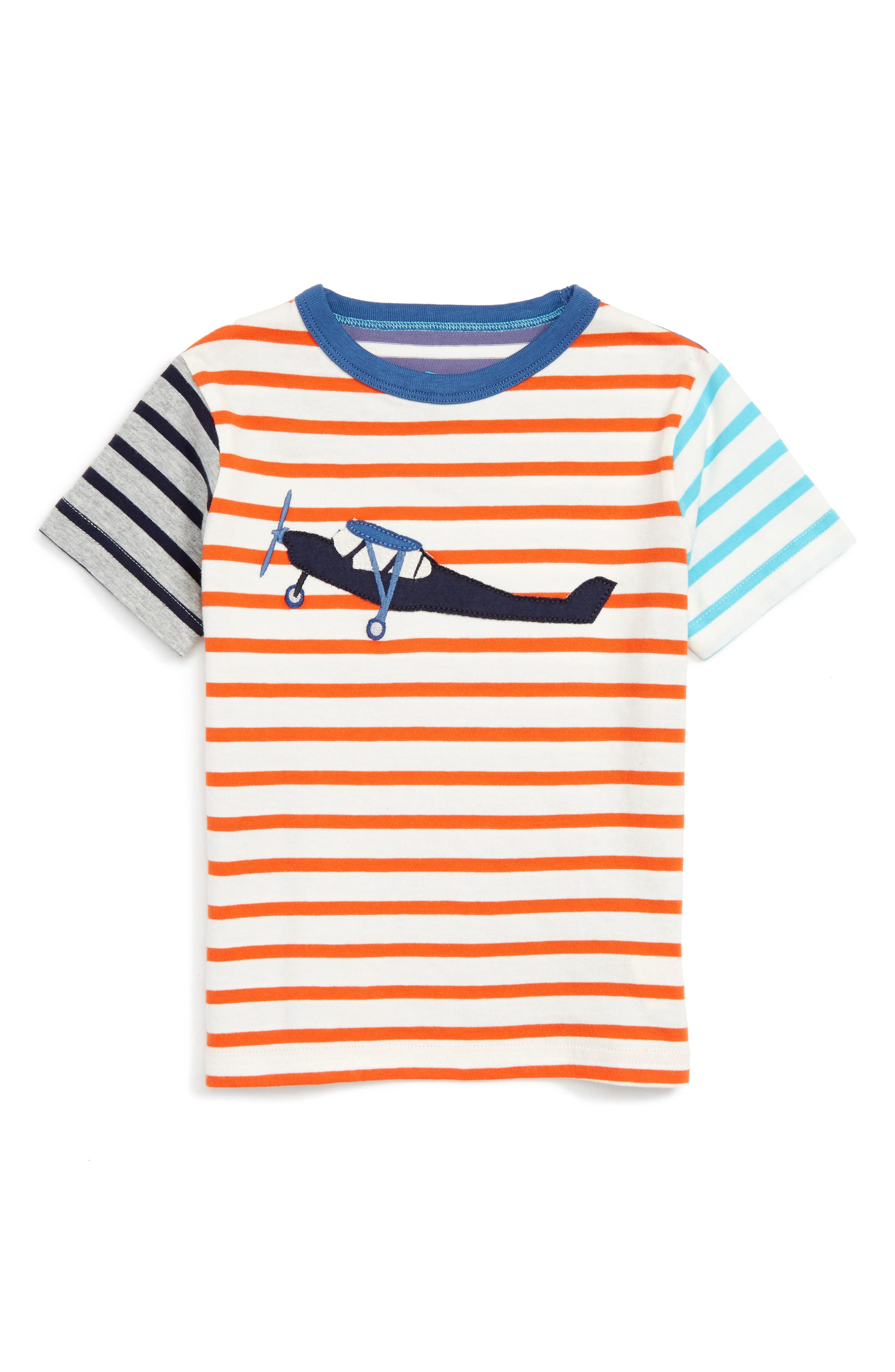 Mini Boden Hotchpotch Vehicle Appliqué T-Shirt (Toddler Boys, Little Boys & Big Boys)