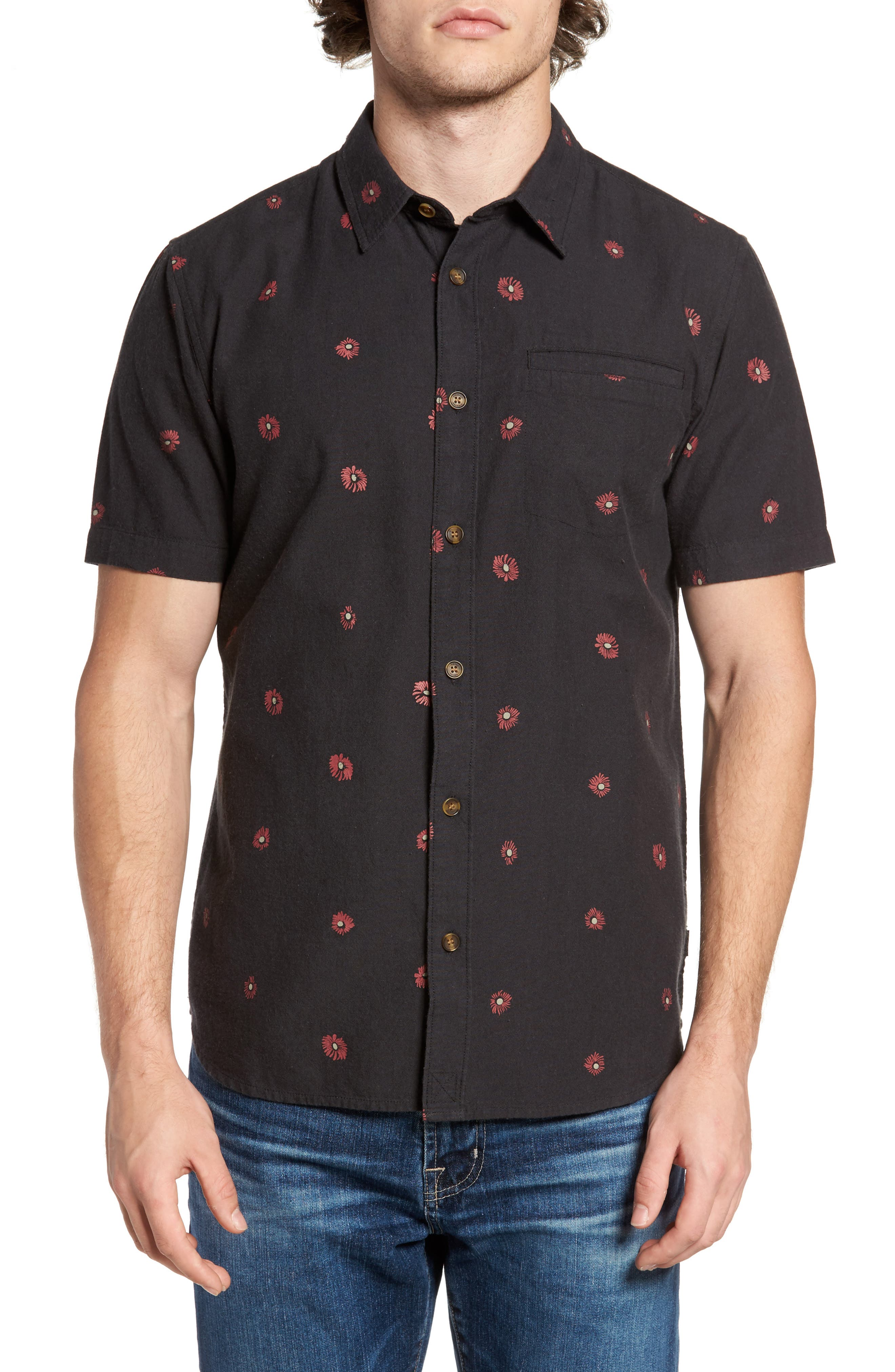 O'Neill Brees Floral Print Woven Shirt