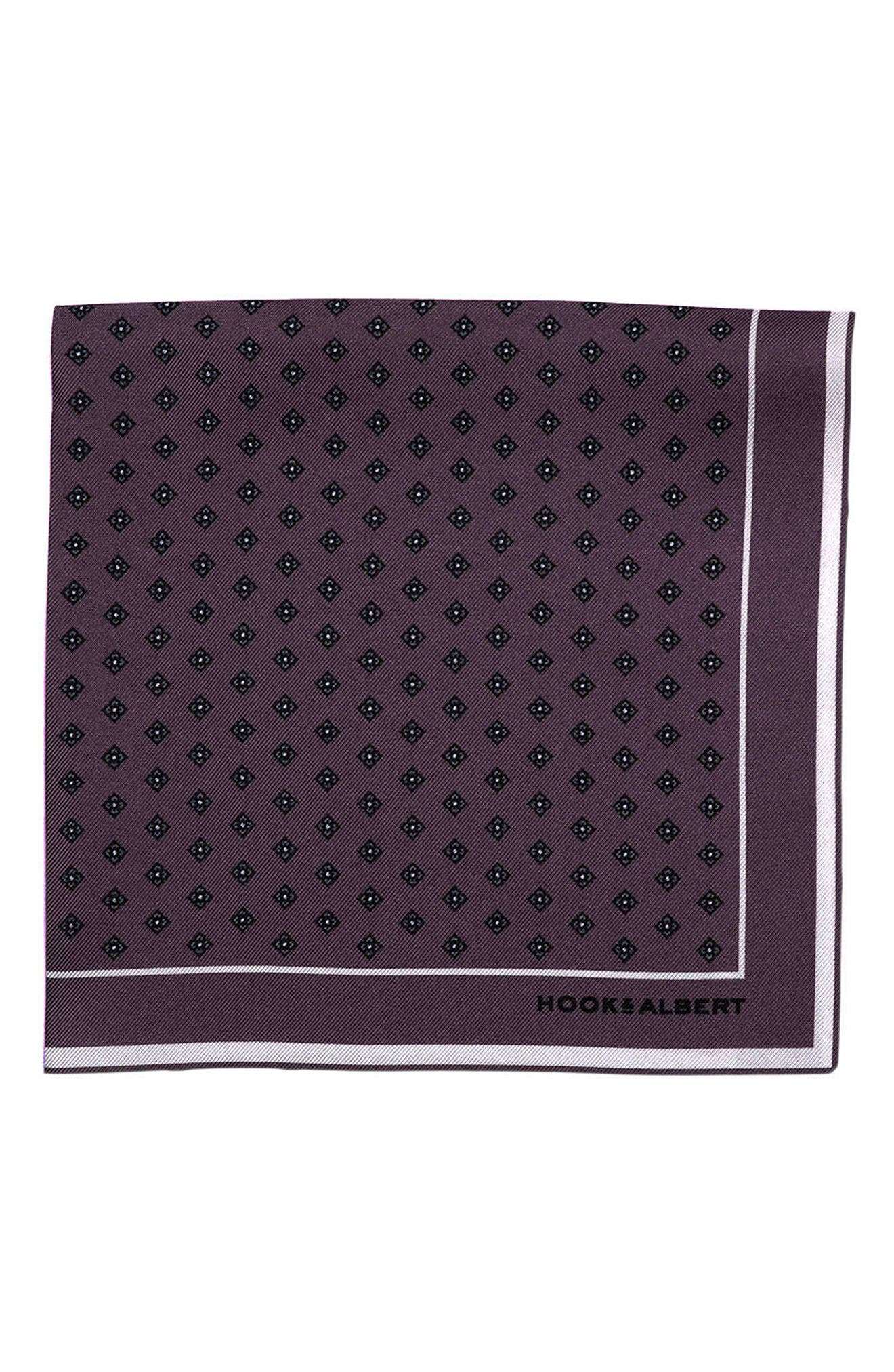 hook + ALBERT Dot Silk Pocket Square