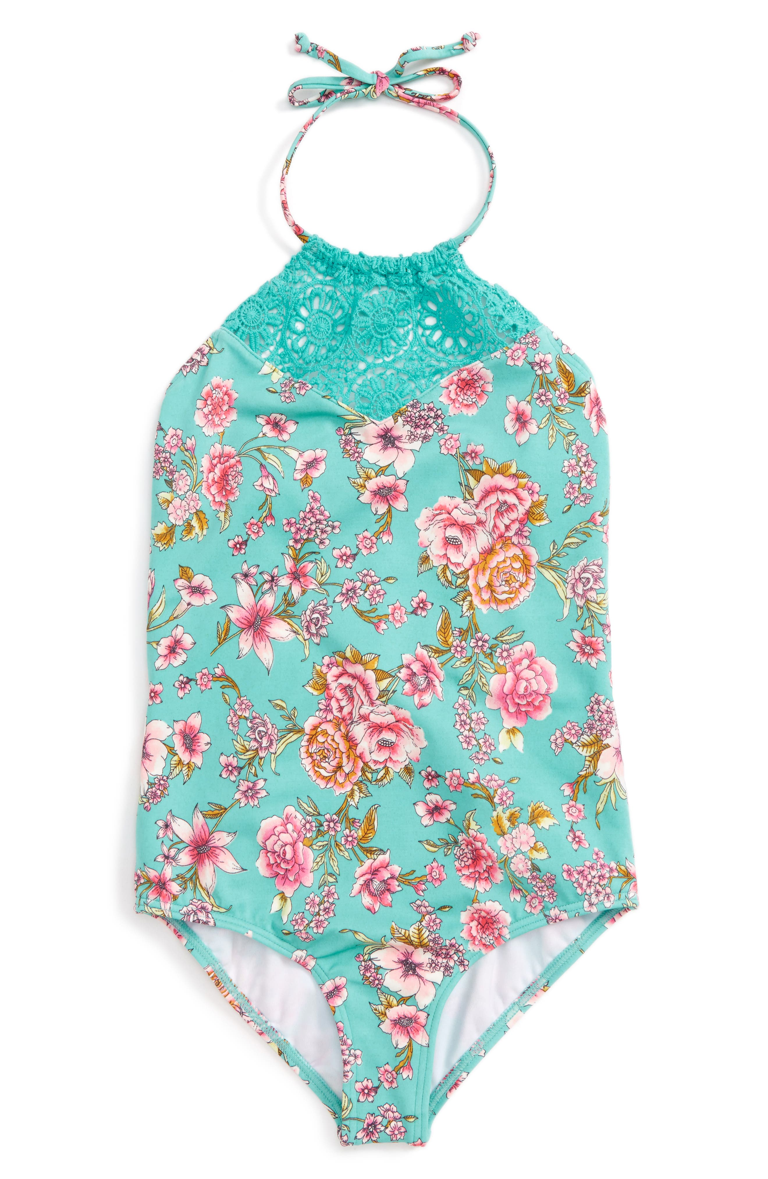 Billabong Blooming Beauty One-Piece Swimsuit (Little Girls & Big Girls)