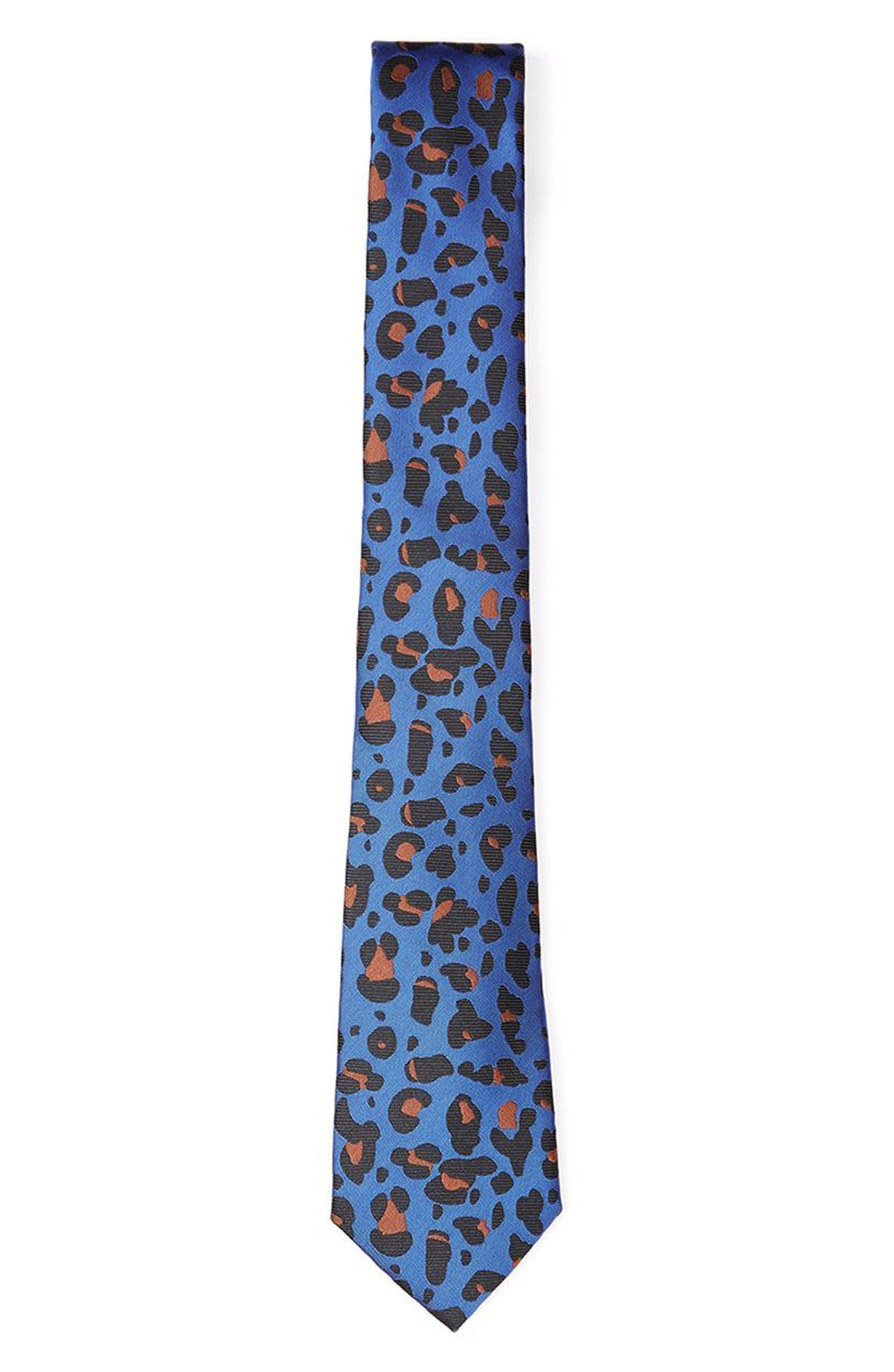 Topman Leopard Print Tie