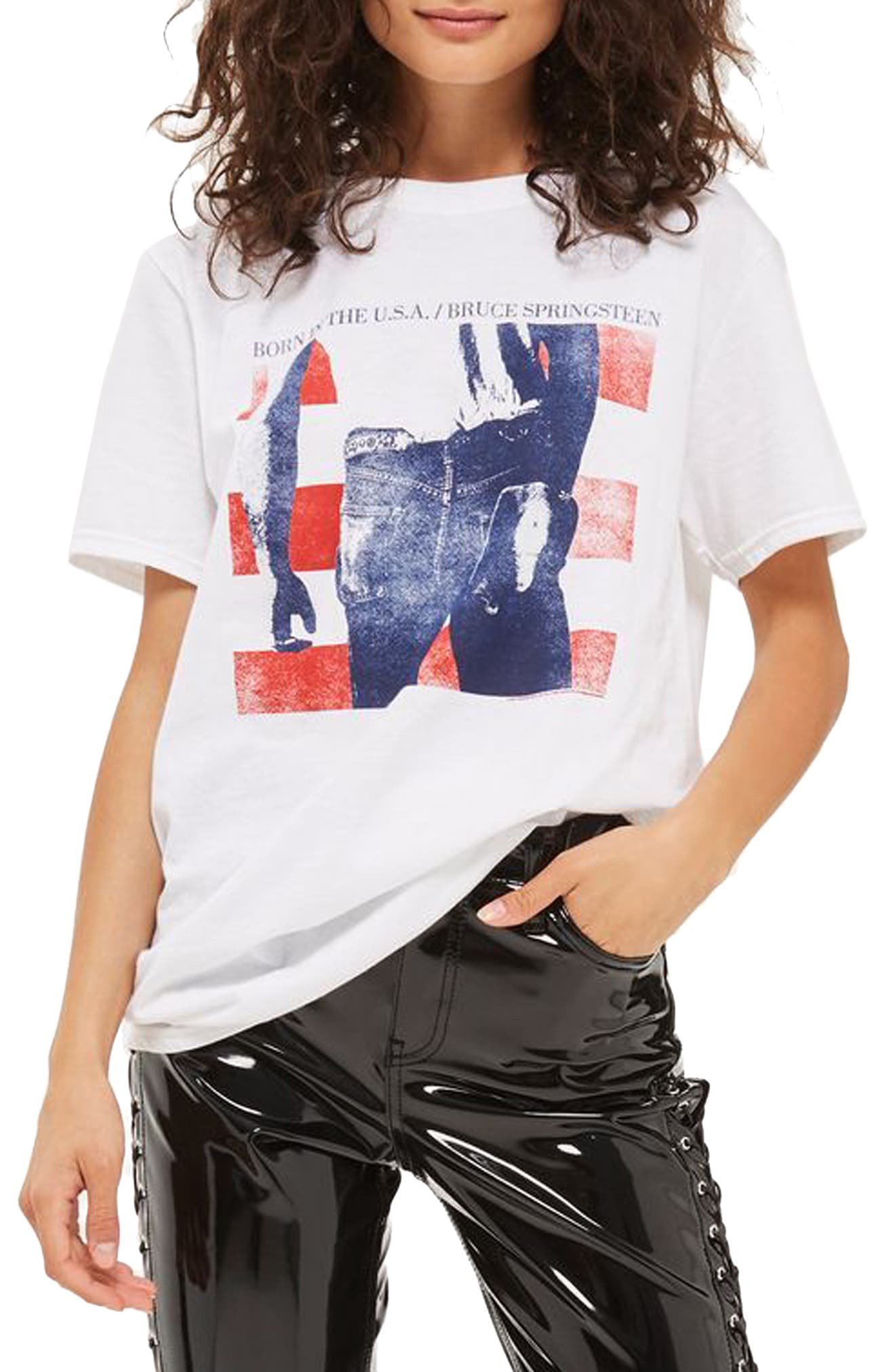 Topshop by And Finally Bruce Springsteen Graphic Tee