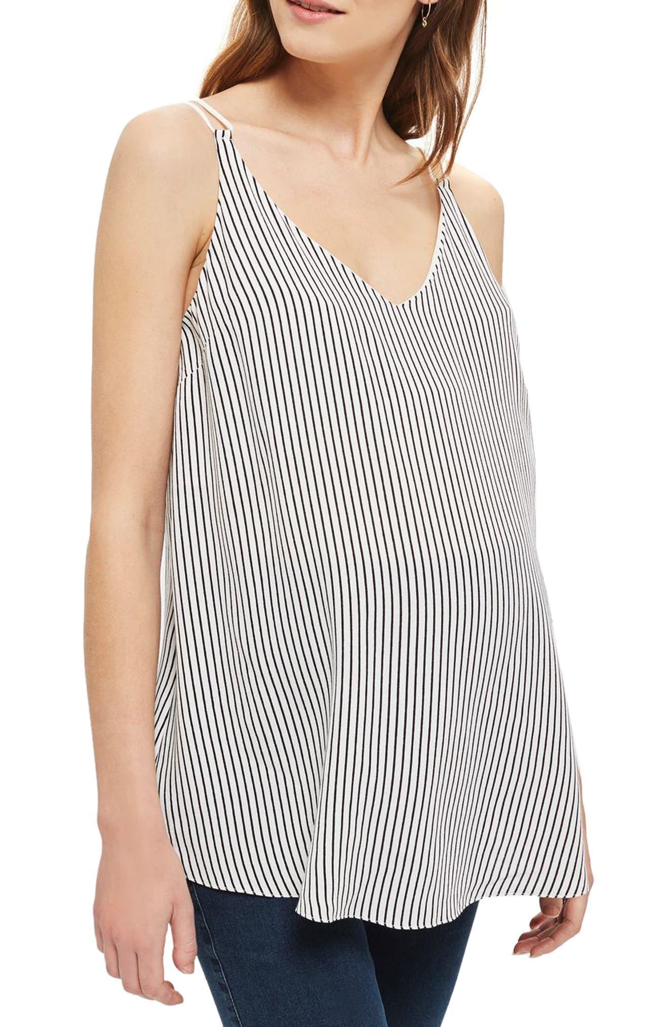 Topshop Stripe Swing Maternity Camisole