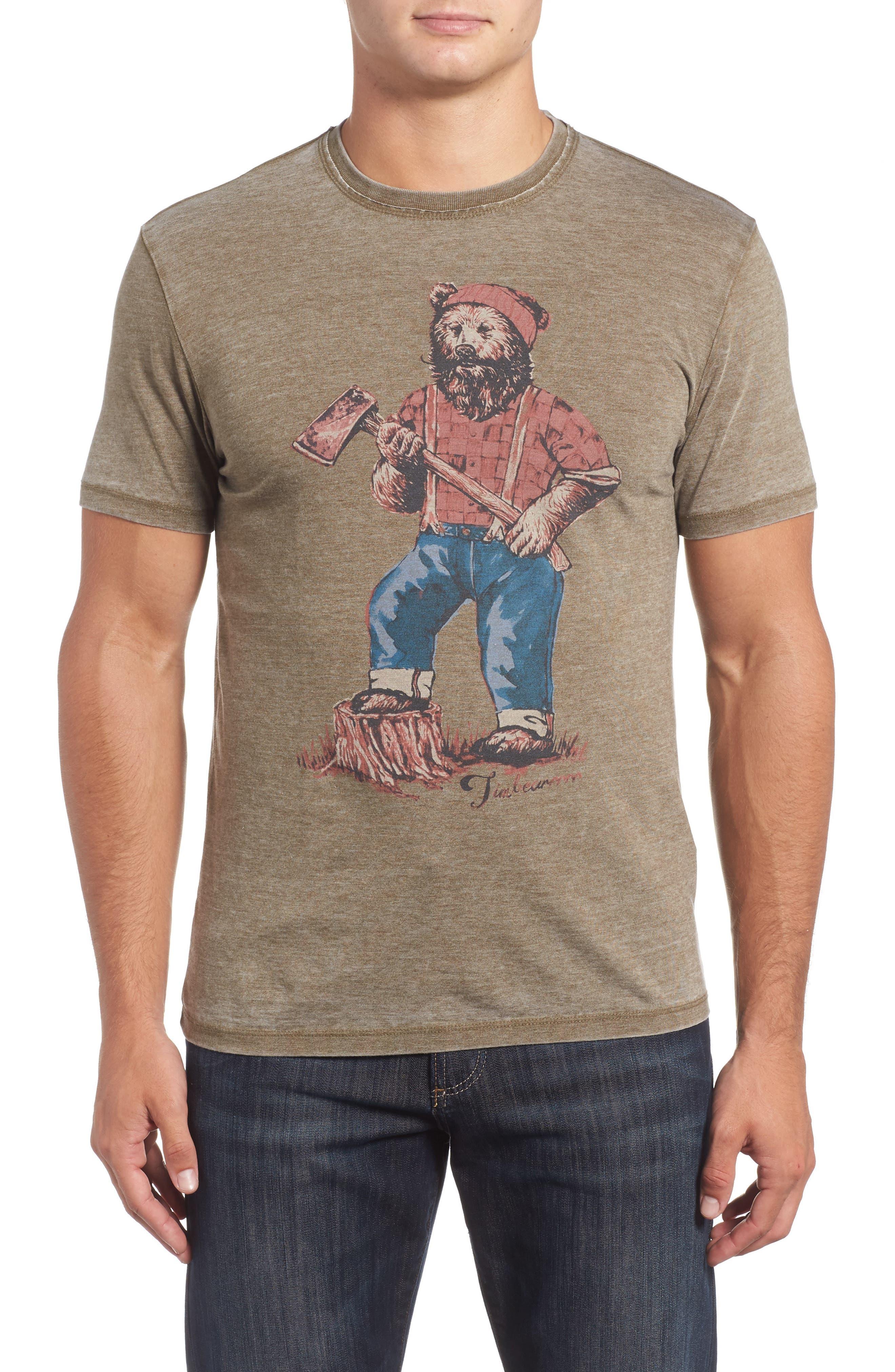 Lucky Brand Lumbear Jack Graphic T-Shirt