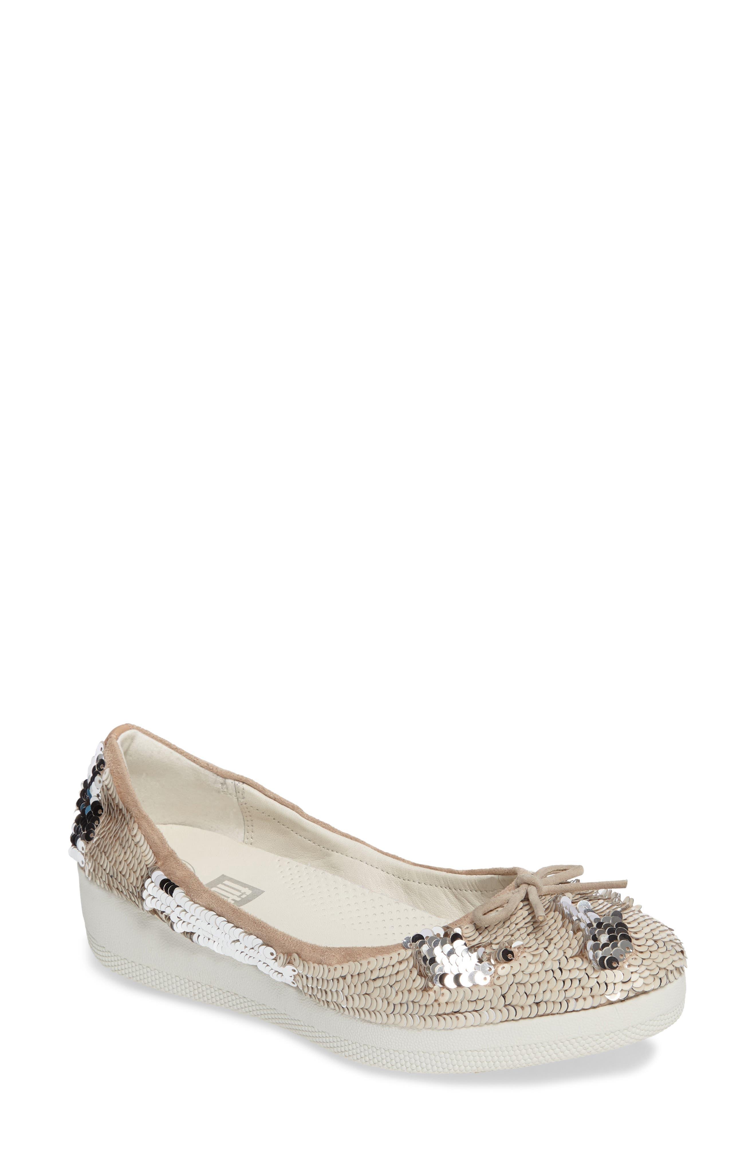 FitFlop™ Superballerina Sequin Ballet Flat (Women)