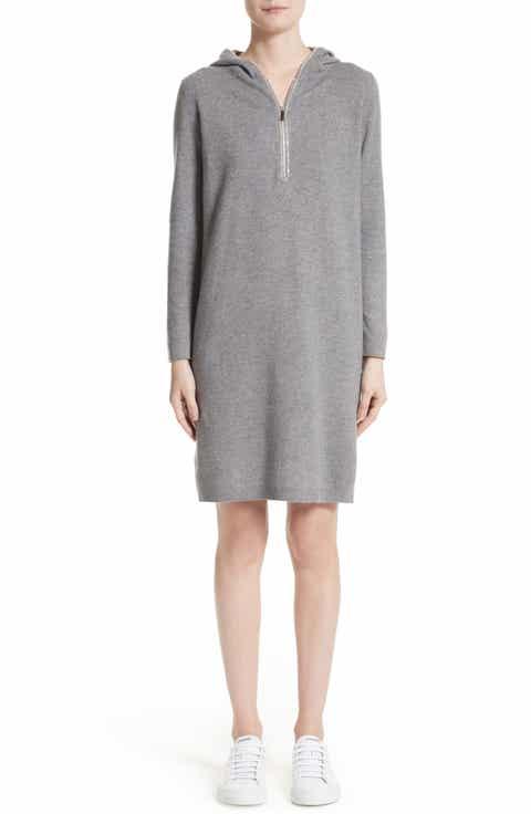 Fabiana Filippi Wool, Silk   Cashmere Hooded Dress