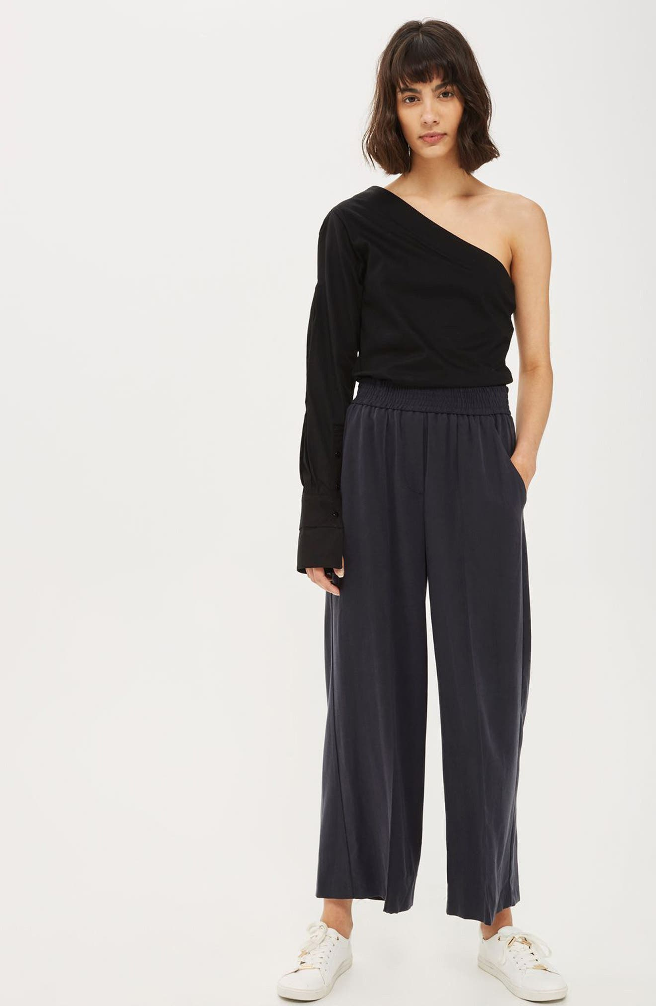 Topshop Shirt & Trousers Outfit with Accessories