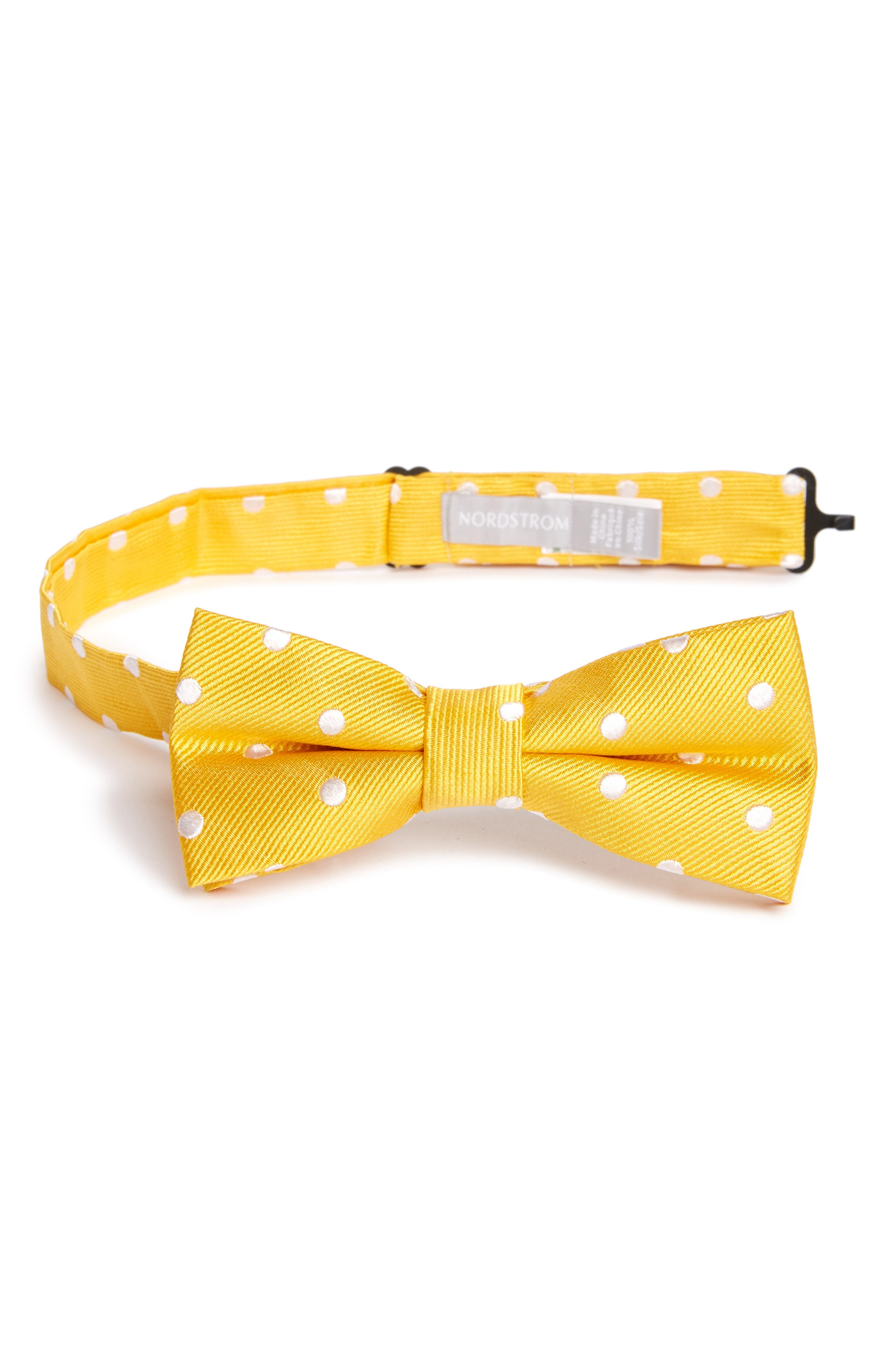 Nordstrom Dot Silk Bow Tie (Boys)