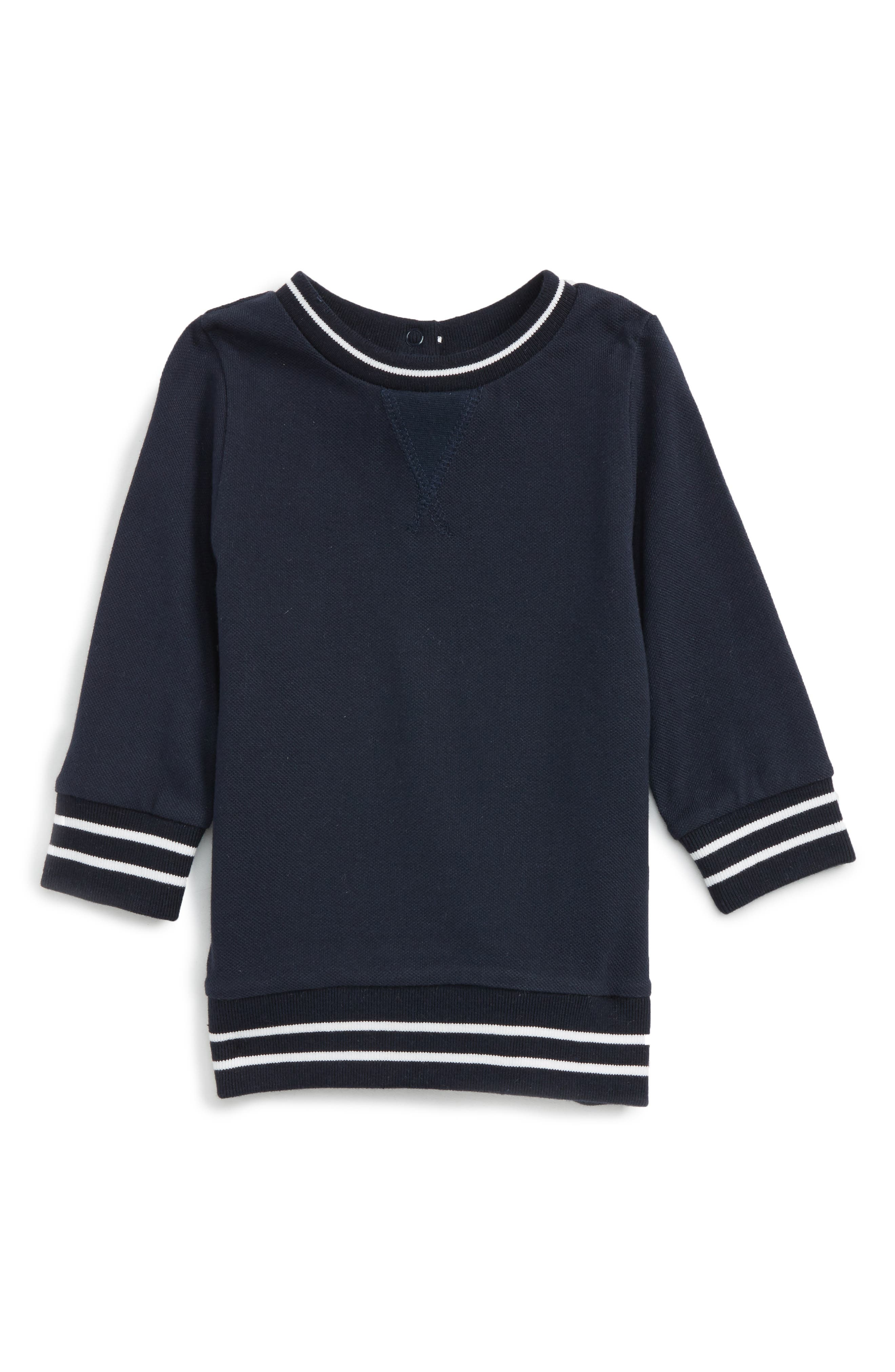 Bardot Junior Stripe Piqué Sweater (Baby Boys & Toddler Boys)