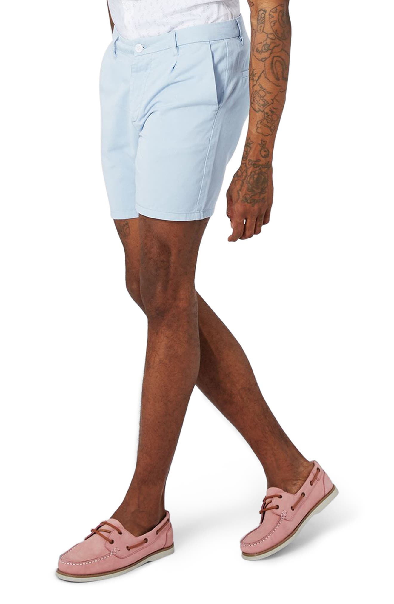 Topman Pleated Chino Shorts