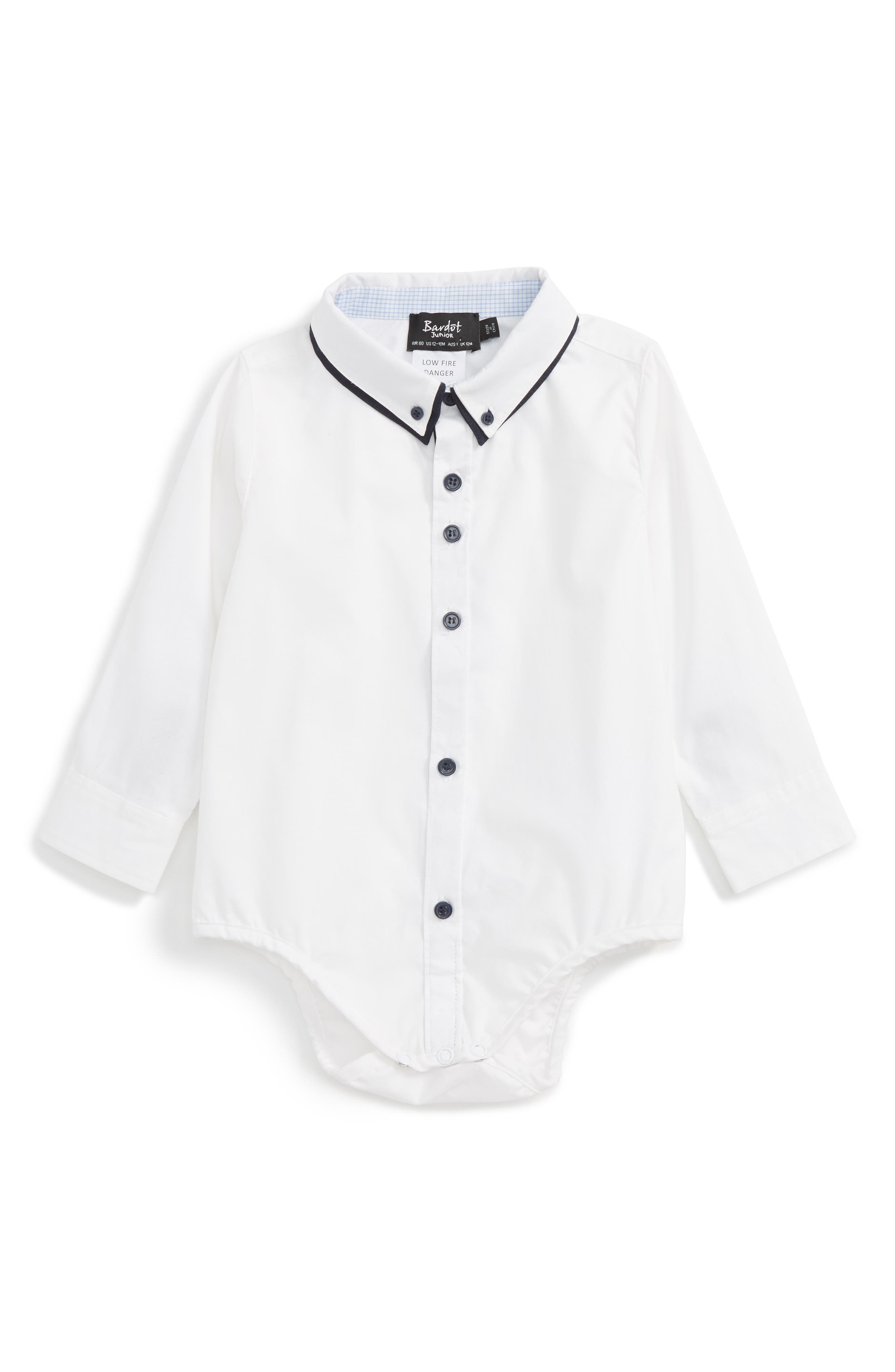 Bardot Junior Atlantic Dress Shirt Bodysuit (Baby Boys)
