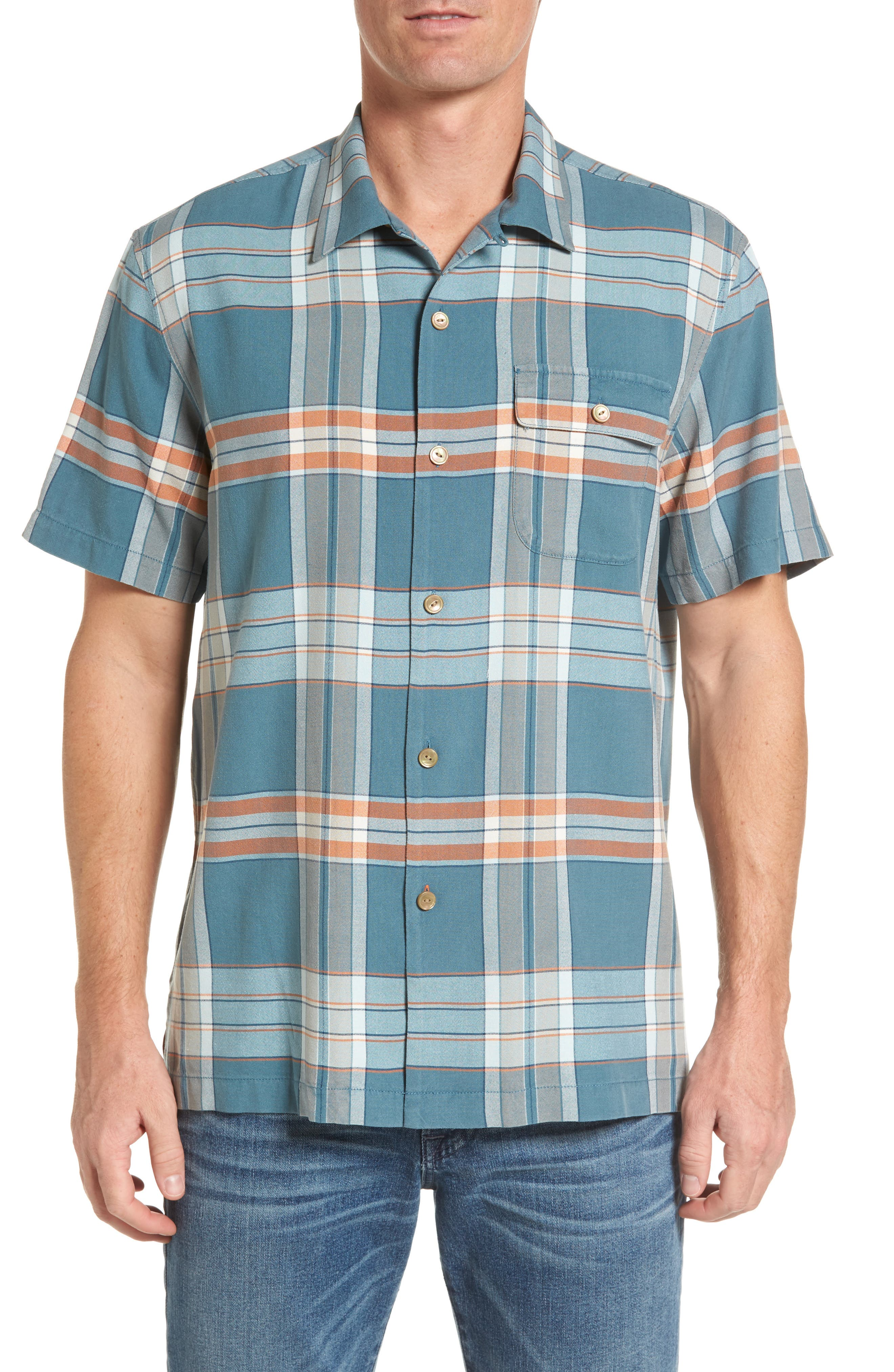 Tommy Bahama All About the Plaid Standard Fit Camp Shirt