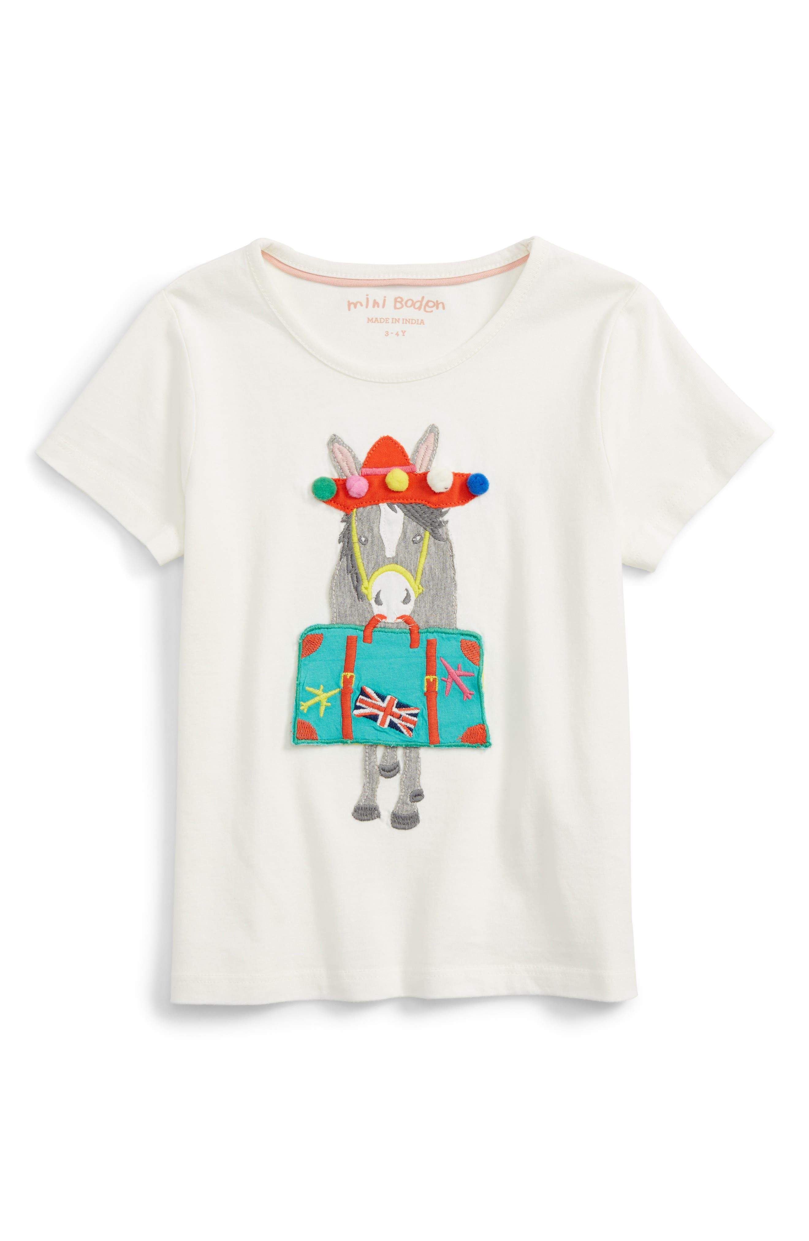 Mini Boden Vacation Appliqué T-Shirt (Toddler Girls, Little Girls & Big Girls)