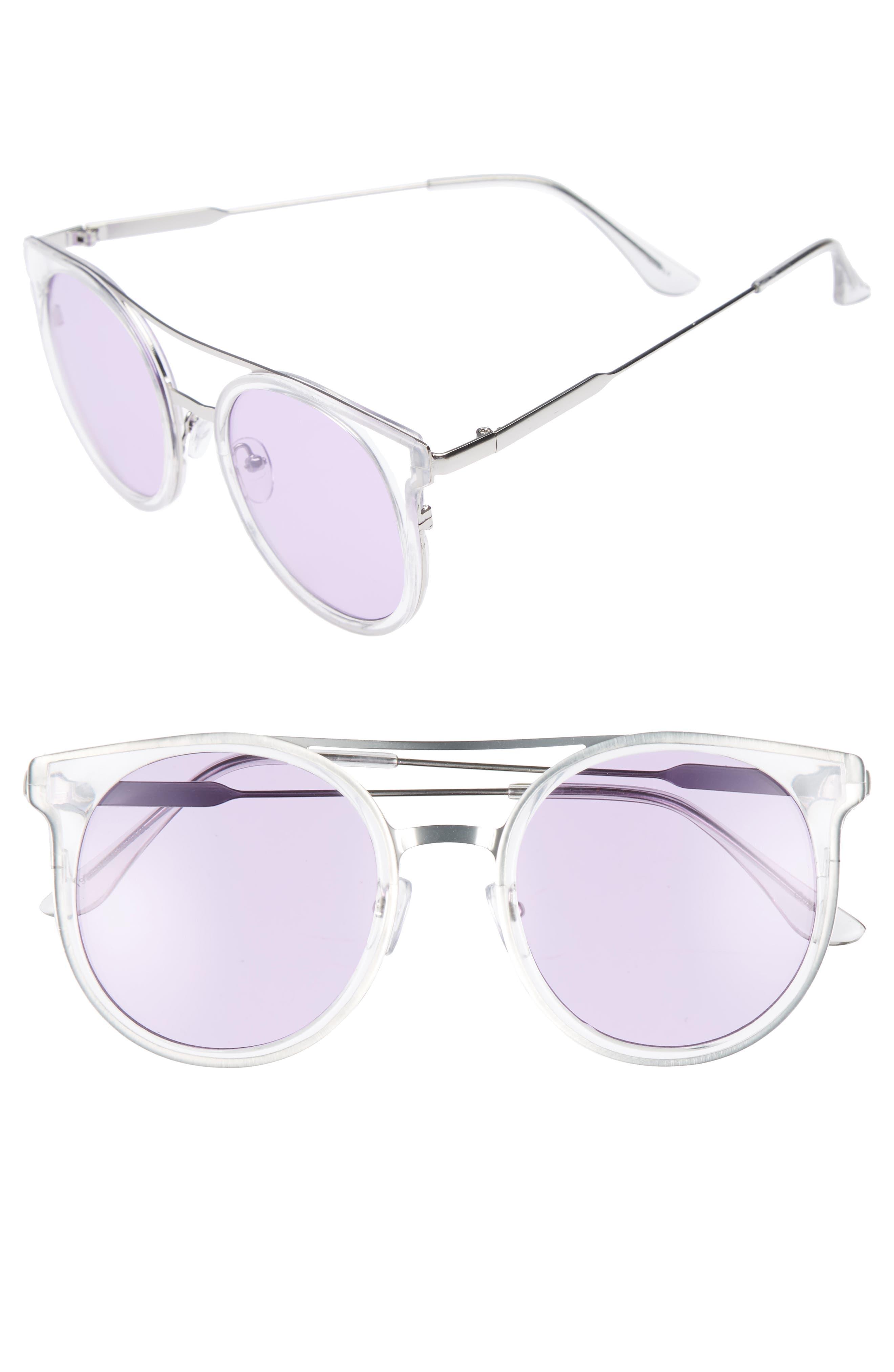 BP. 58mm Colored Round Sunglasses