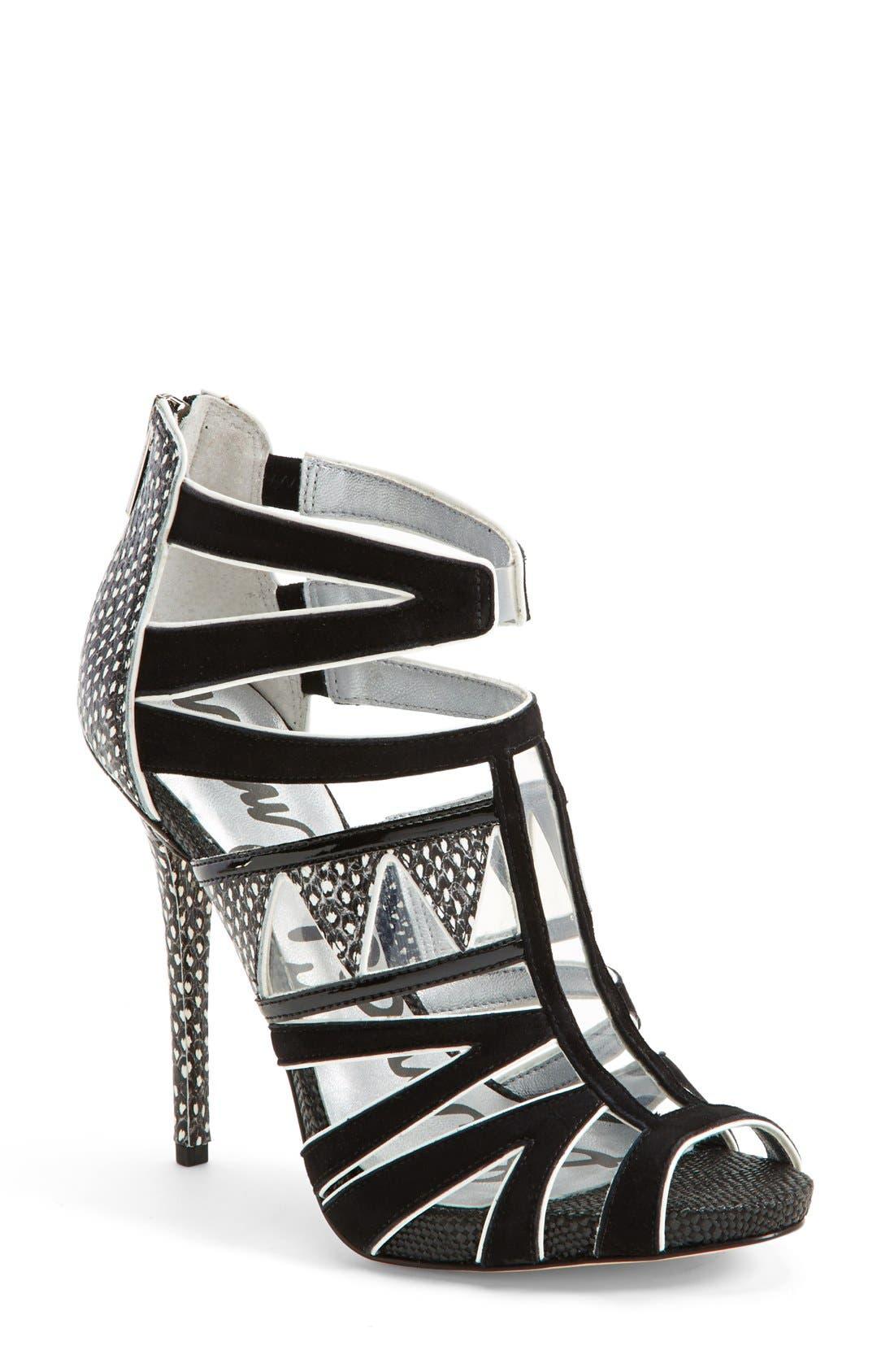 Alternate Image 1 Selected - Sam Edelman 'Jazz' Snake Embossed Sandal (Women)