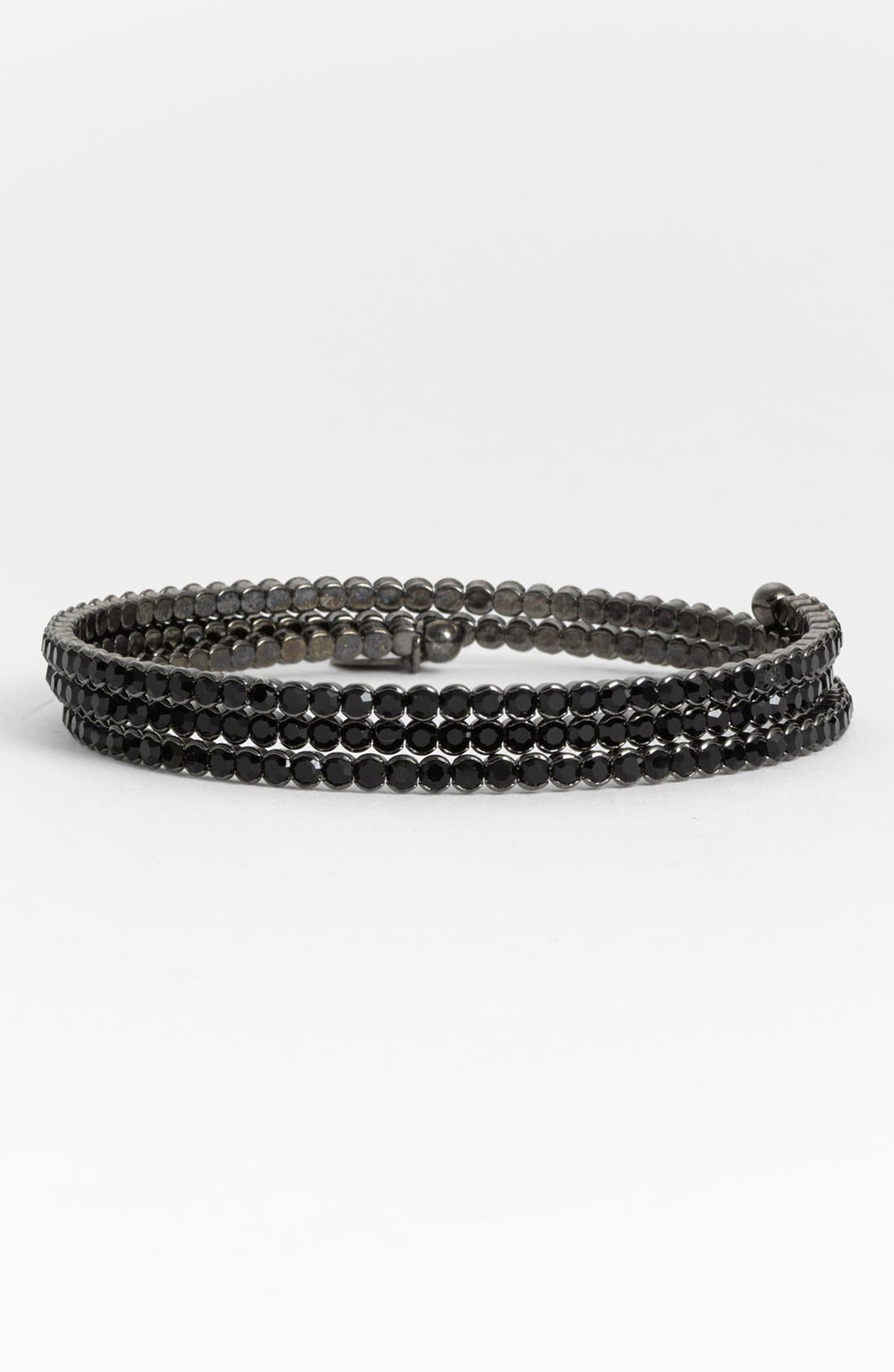 Main Image - Cara Accessories Crystal Coil Bracelet