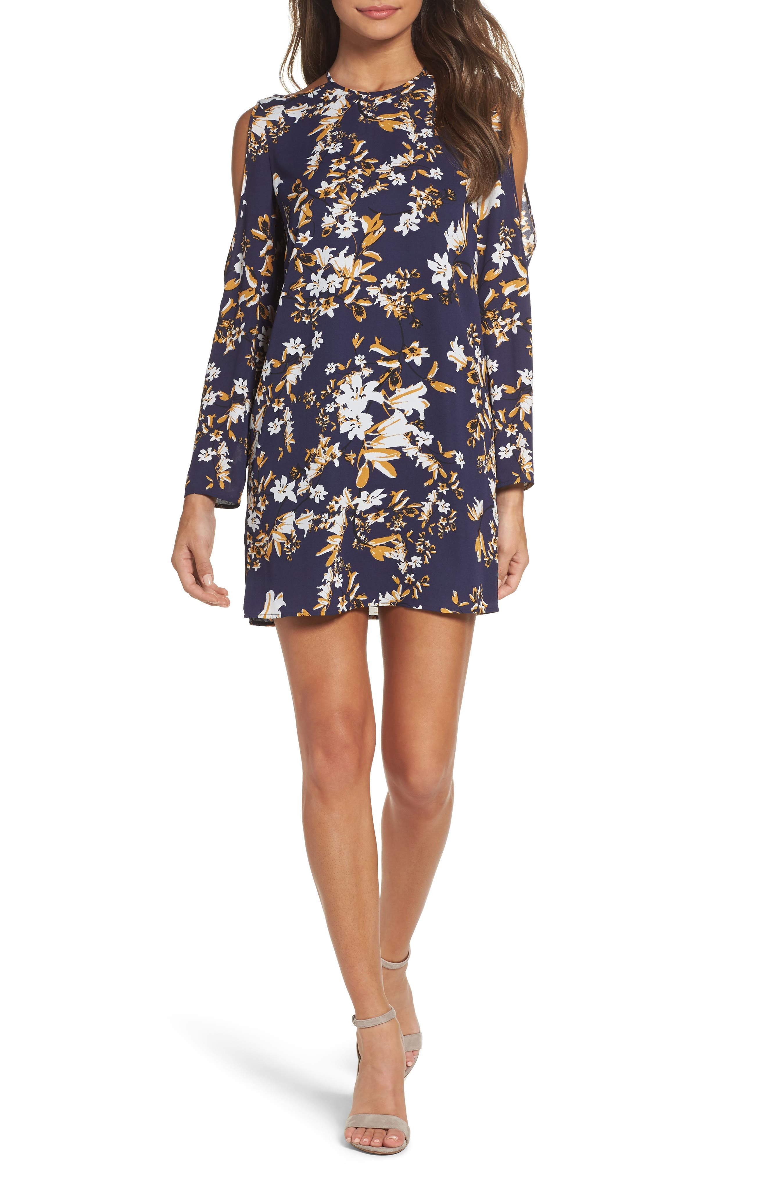 Ali & Jay Floral Romance Cold Shoulder Minidress