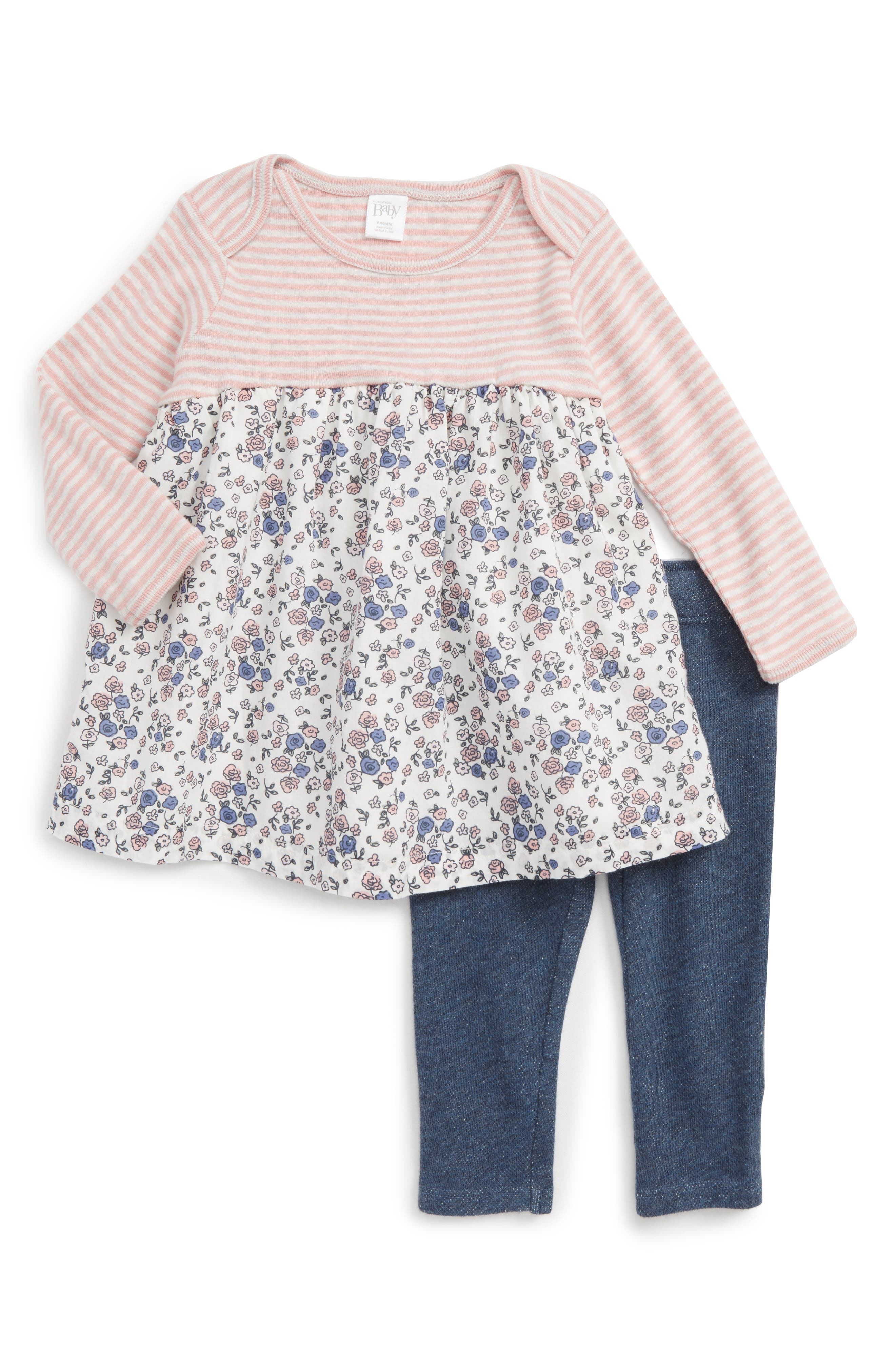 Nordstrom Baby Dress & Leggings Set (Baby Girls)