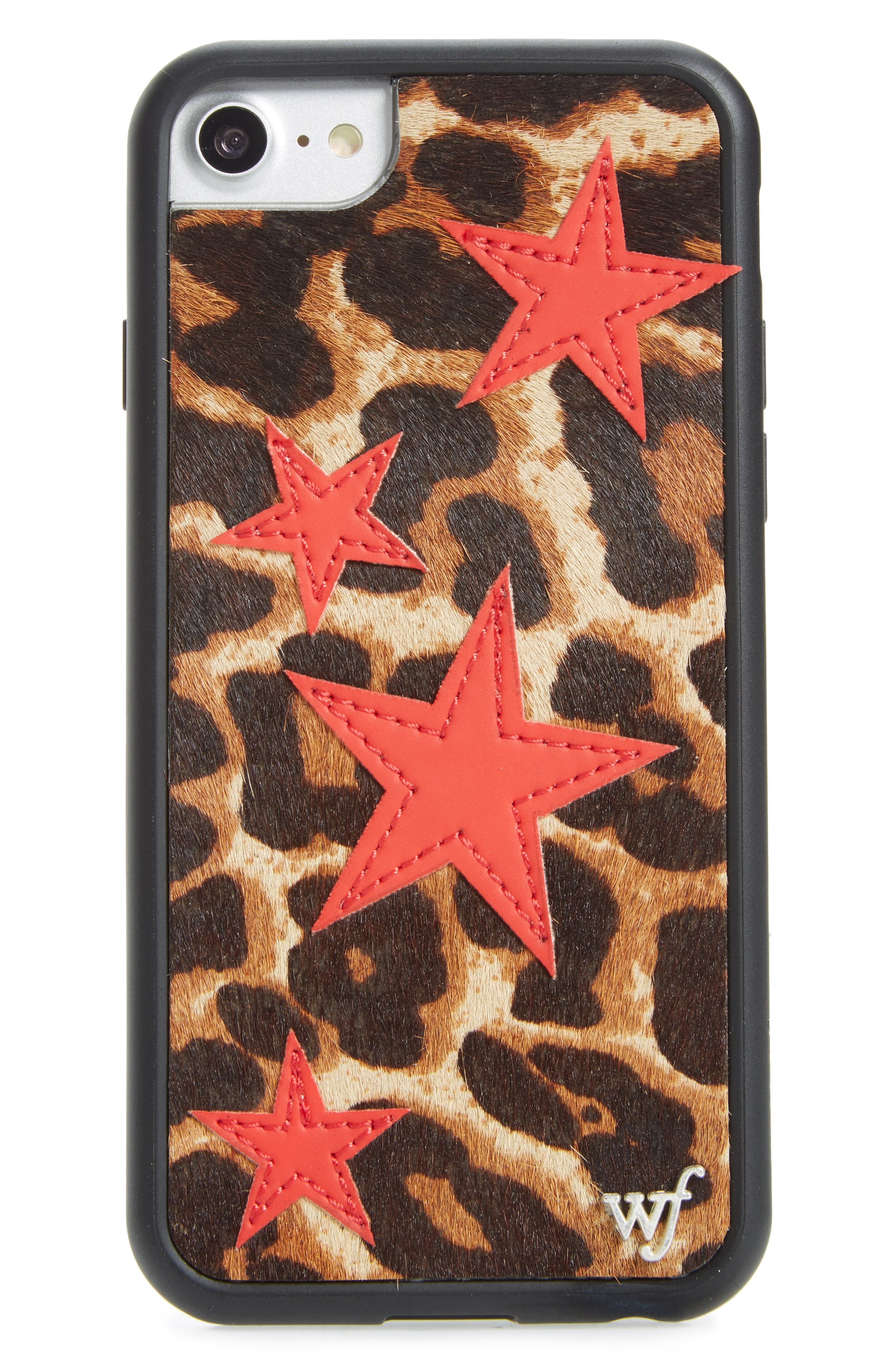 Wildflower Leopard & Star Faux Calf Hair iPhone 6/6s Case