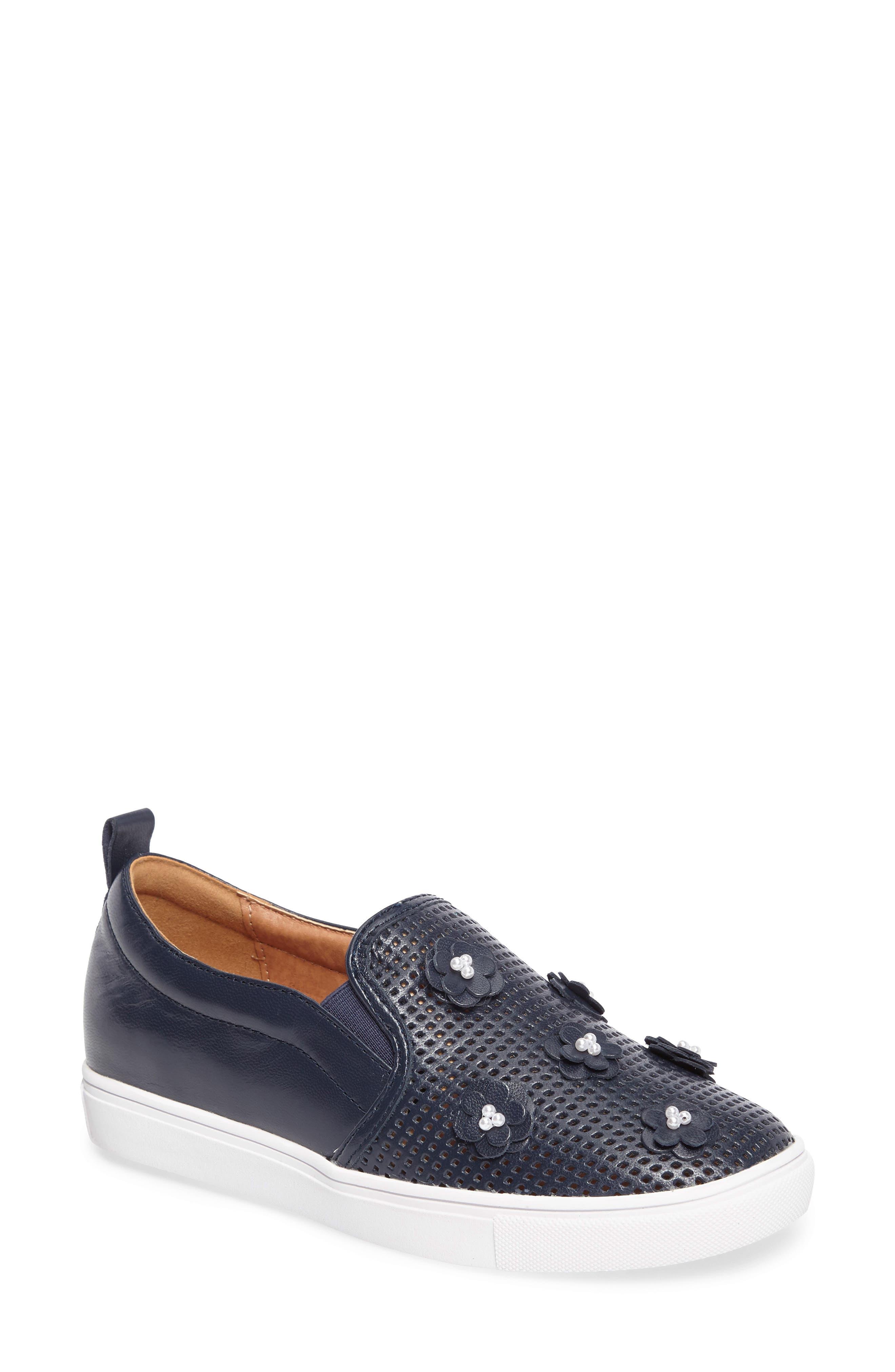Caslon® Eden Perforated Slip-On Sneaker (Women)