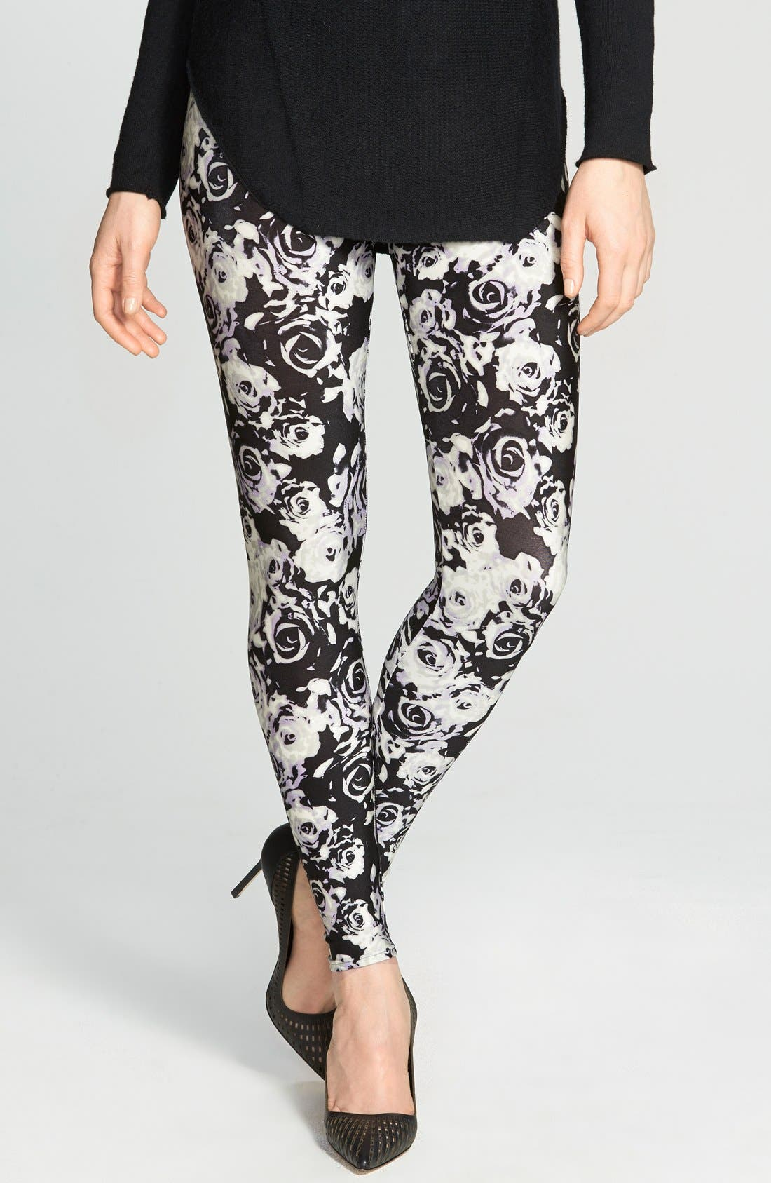 Main Image - Nordstrom Floral Leggings