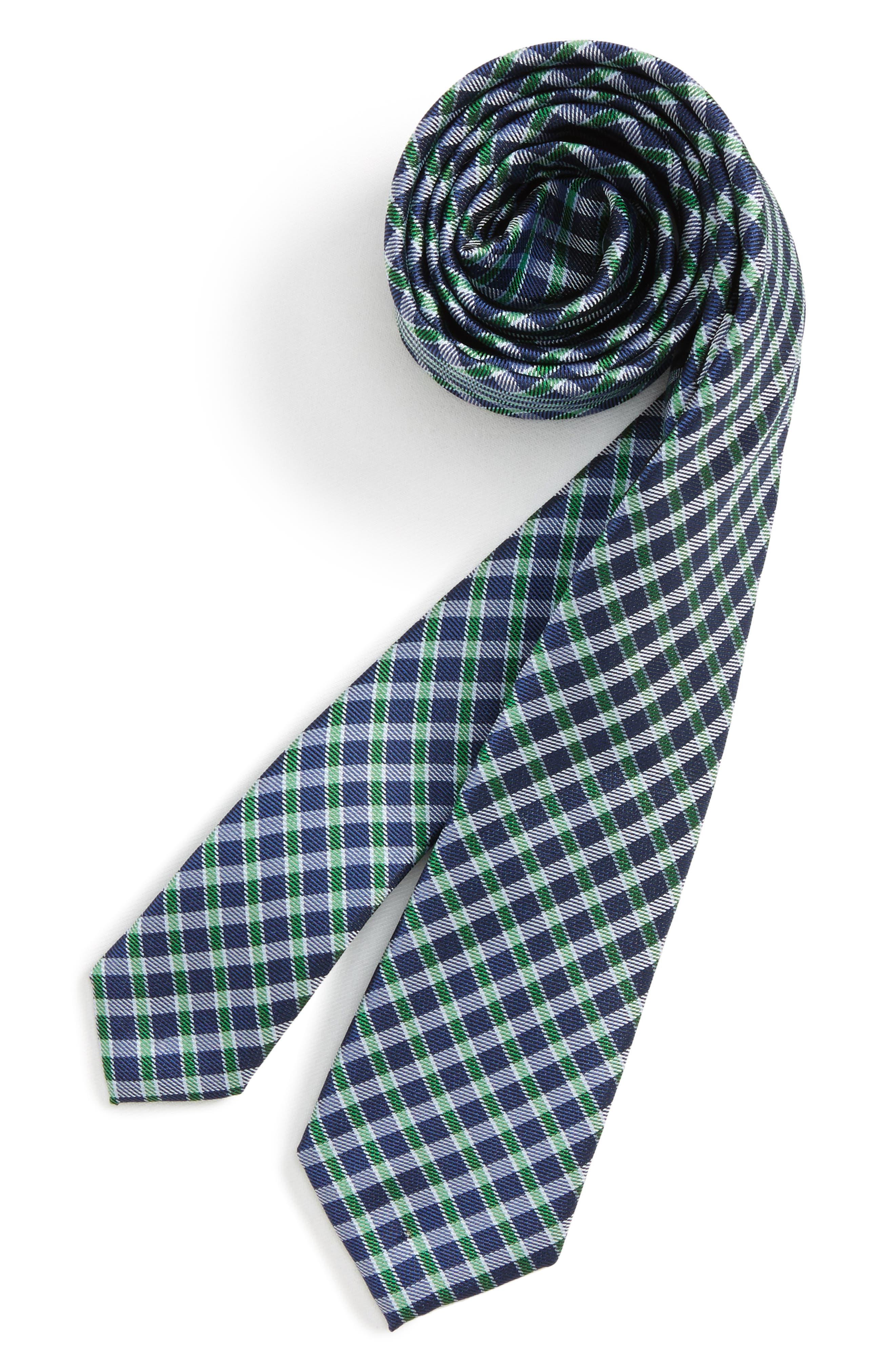 Nordstrom Plaid Silk Tie (Boys)