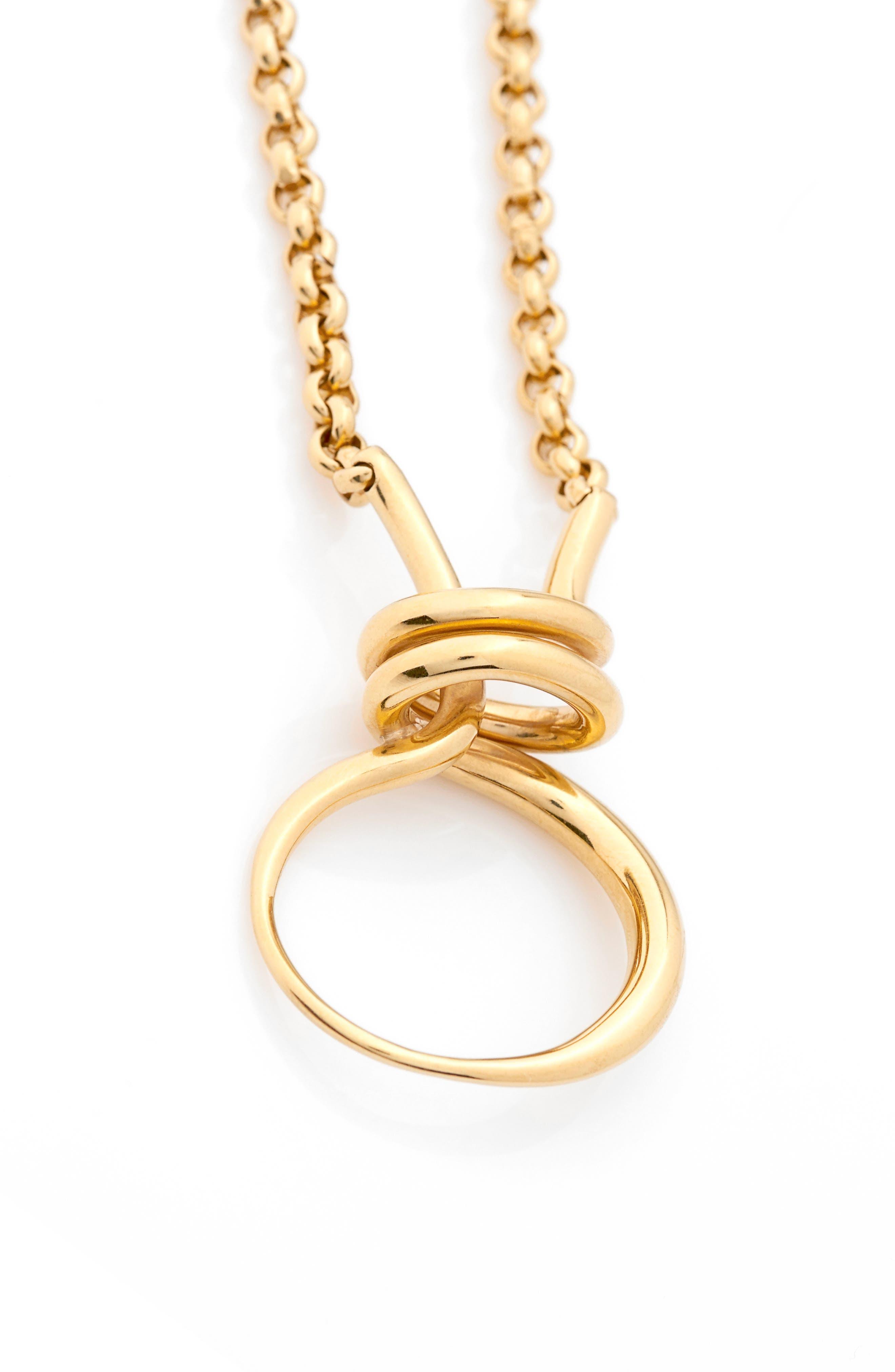 Charlotte Chesnais Round Trip Vermeil Necklace