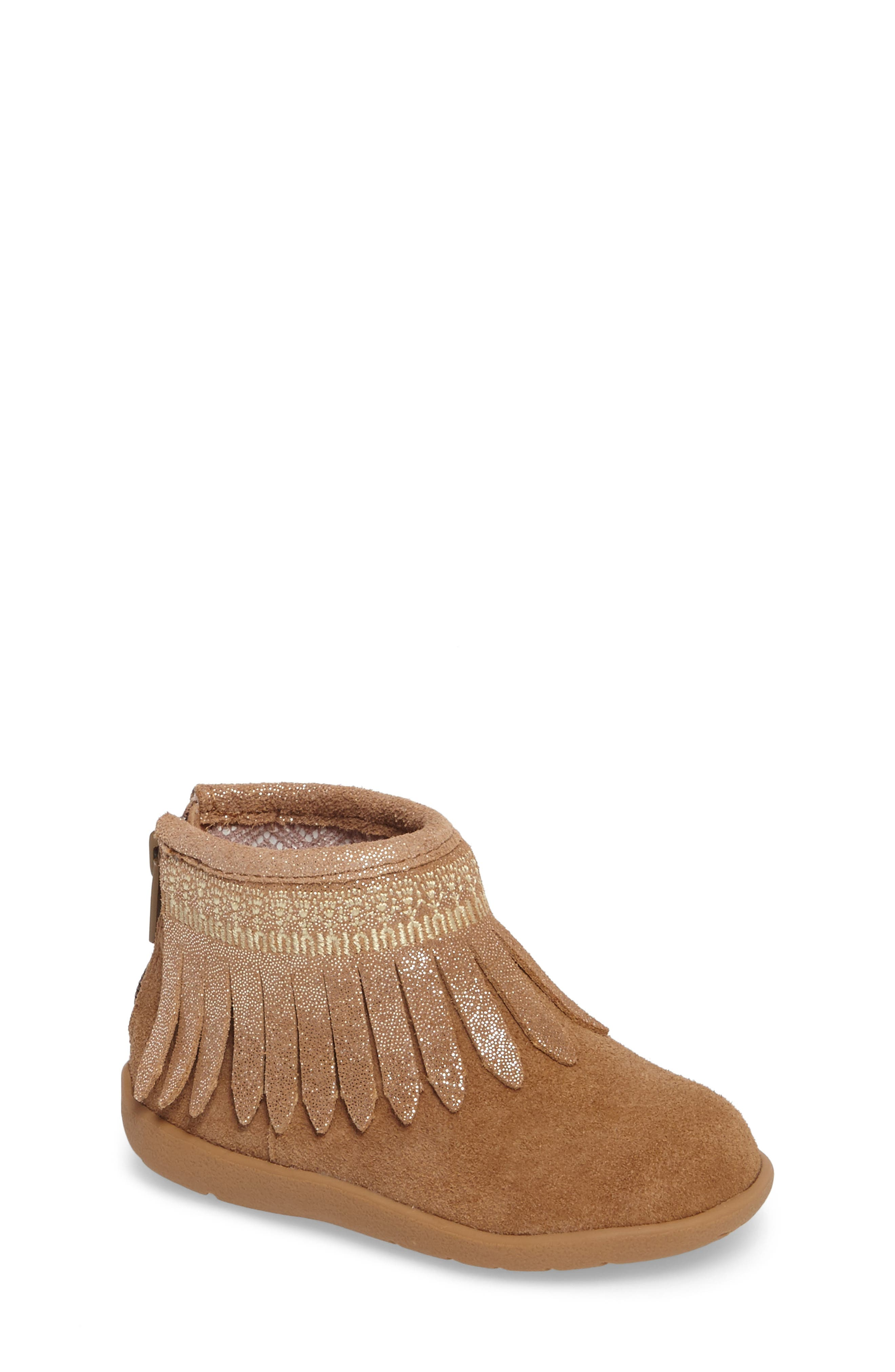 Tucker + Tate Gracia Sparkle Fringe Bootie (Baby, Walker & Toddler)