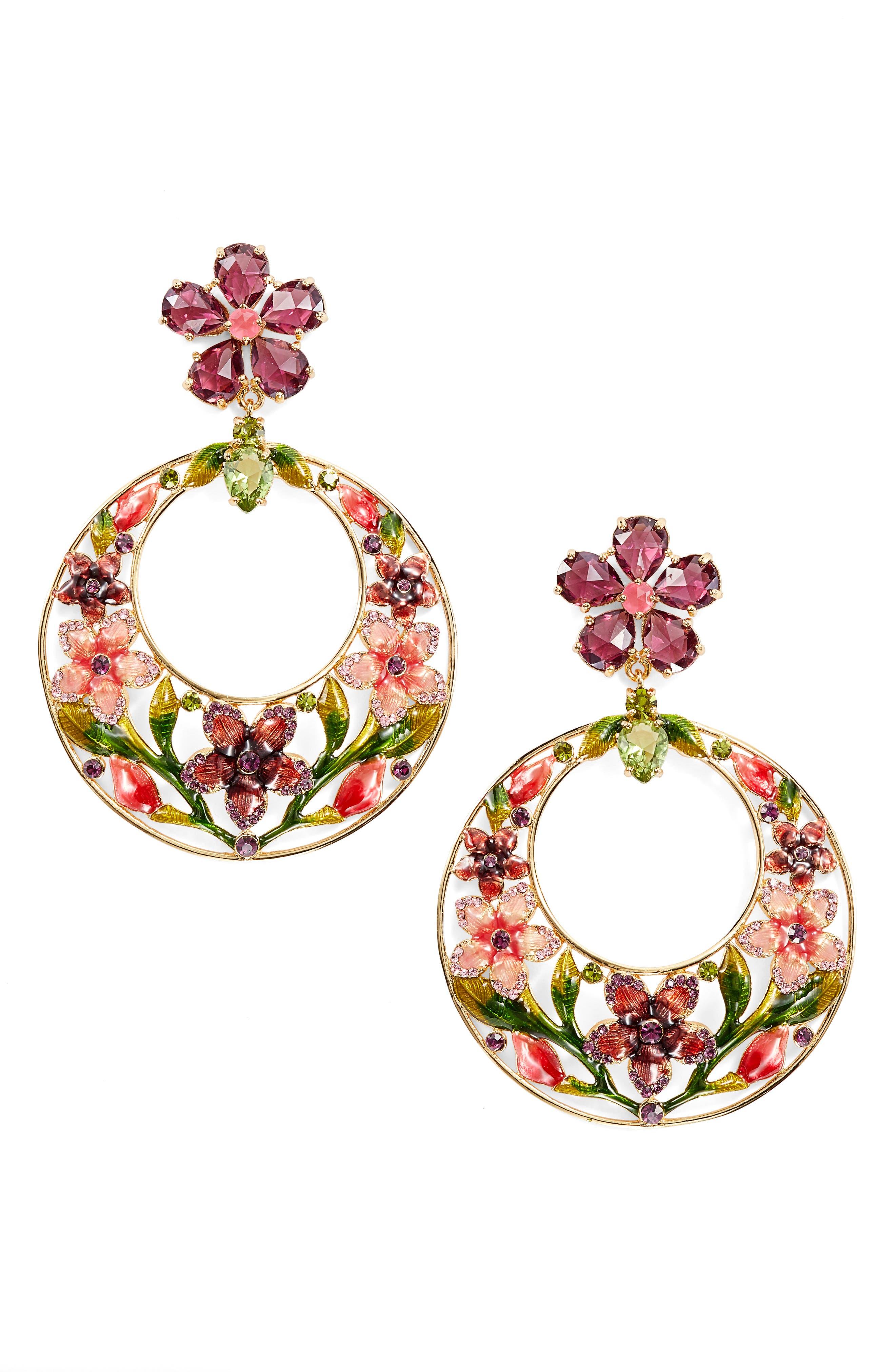 kate spade new york in full bloom drop earrings