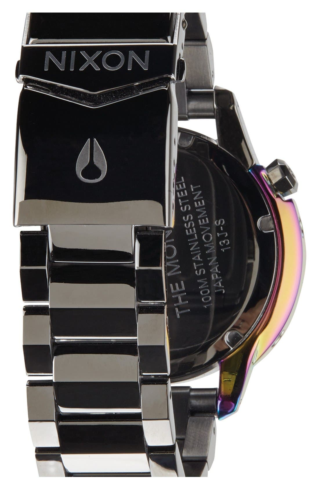 Alternate Image 2  - Nixon 'The Monarch' Iridescent Accent Faceted Bezel Bracelet Watch, 38mm