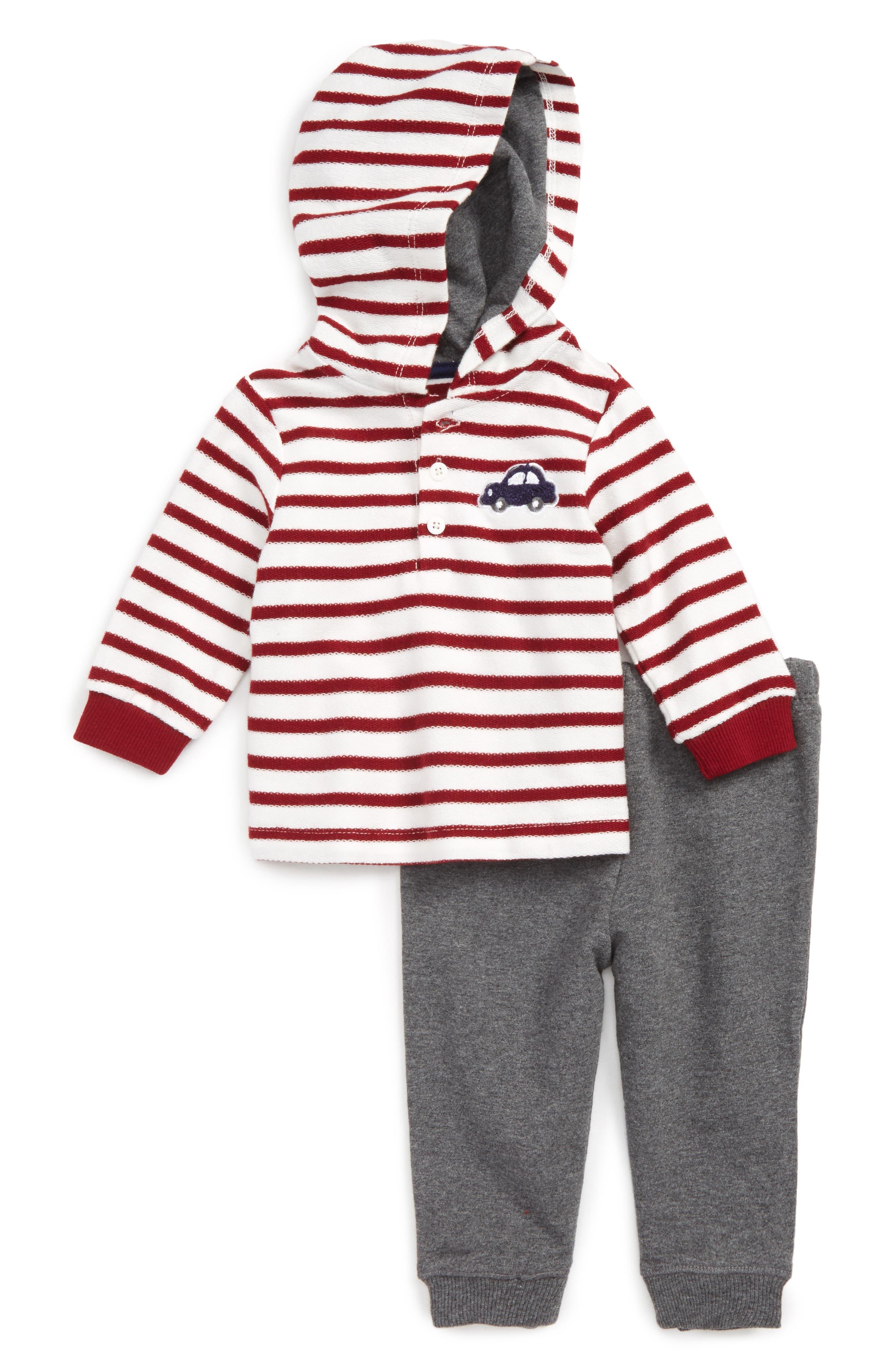 Little Me Car Hoodie & Pants Set (Baby Boys)