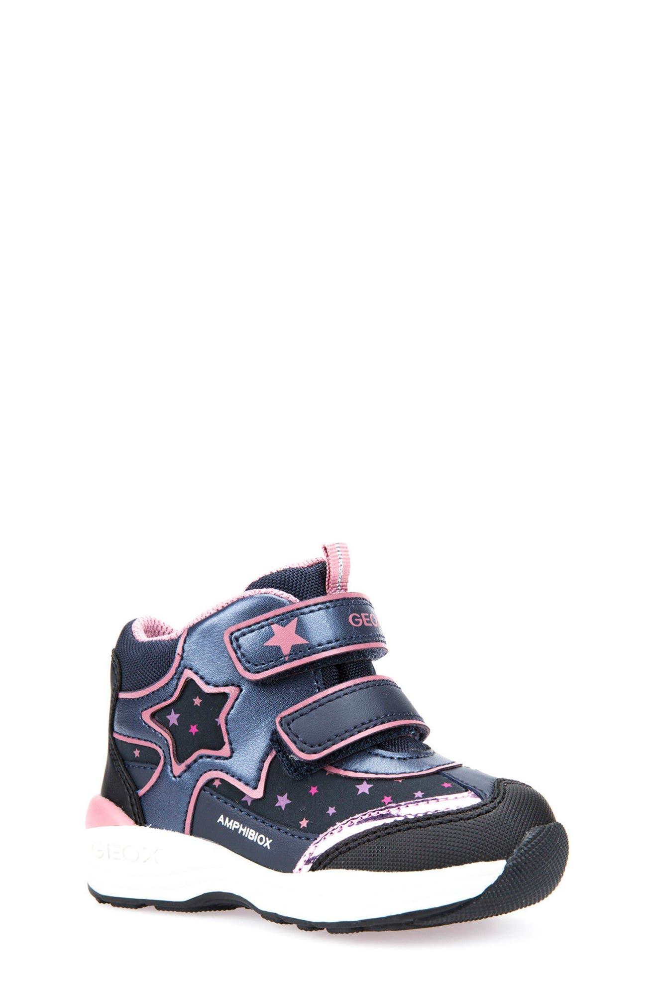 Geox Gulp ABX Waterproof Star Sneaker Boot (Walker & Toddler)
