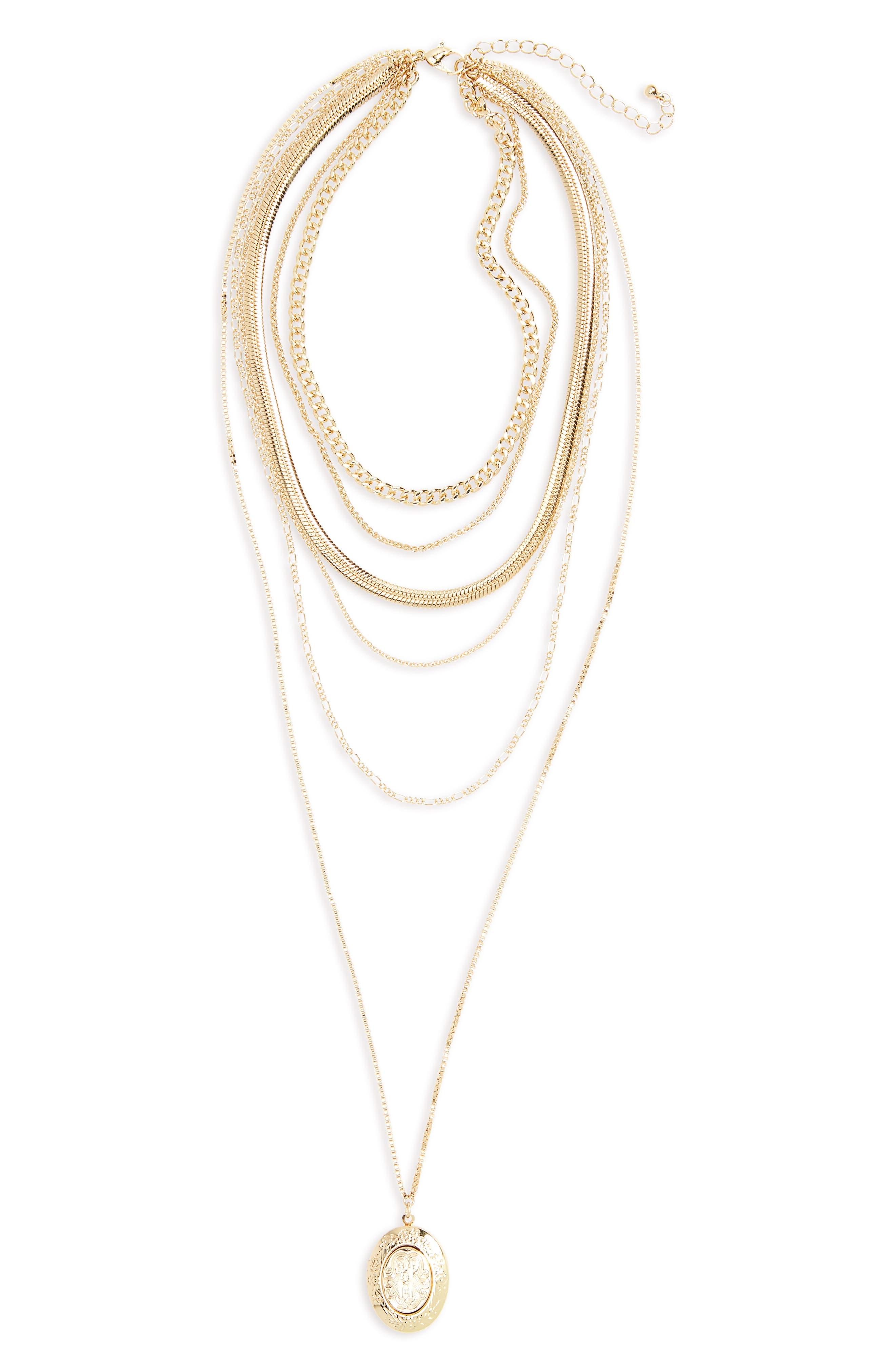 BP. Layered Locket Necklace