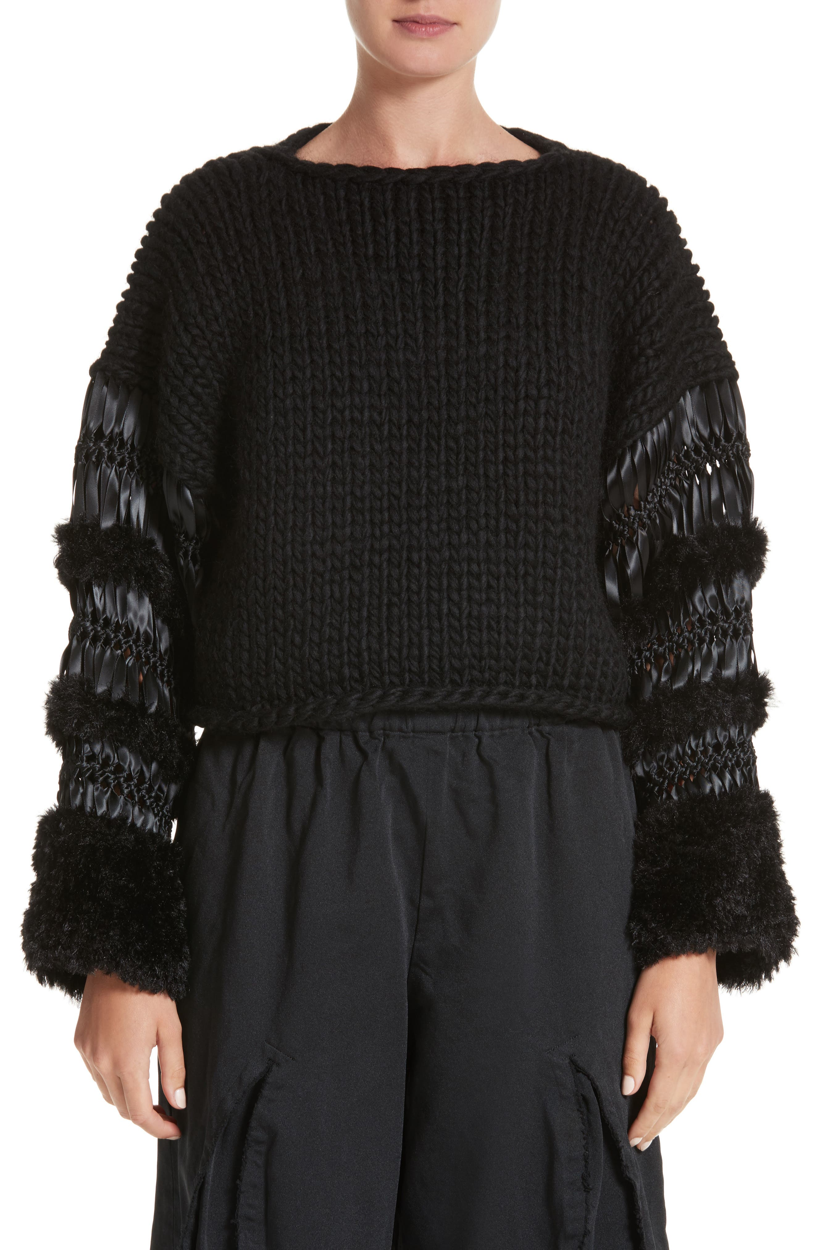 noir kei ninomiya Mixed Media Sweater
