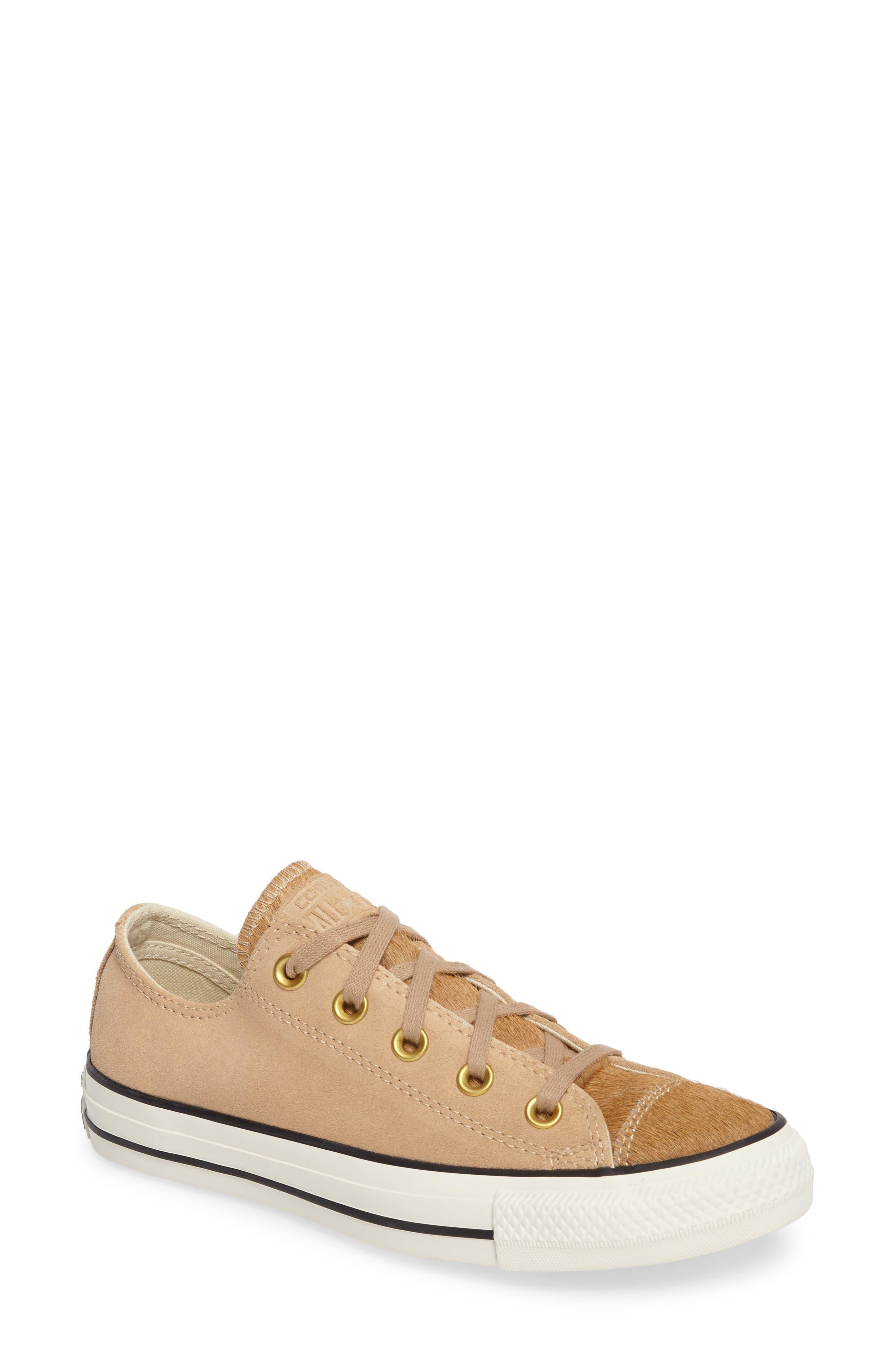 Chuck Taylor® All Star® Ox Genuine Calf Hair Sneaker (Women)